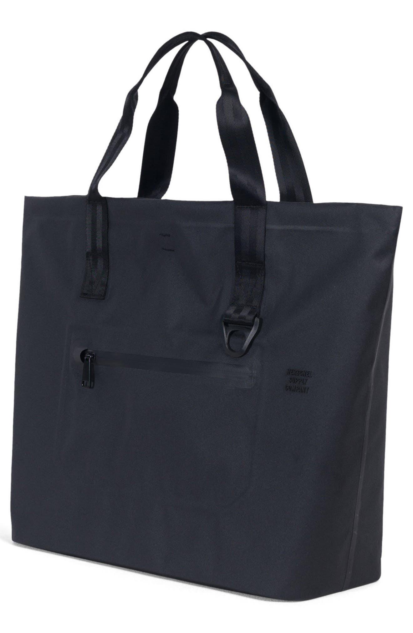 Tarpaulin Alexander Studio Tote Bag,                             Alternate thumbnail 3, color,                             Black