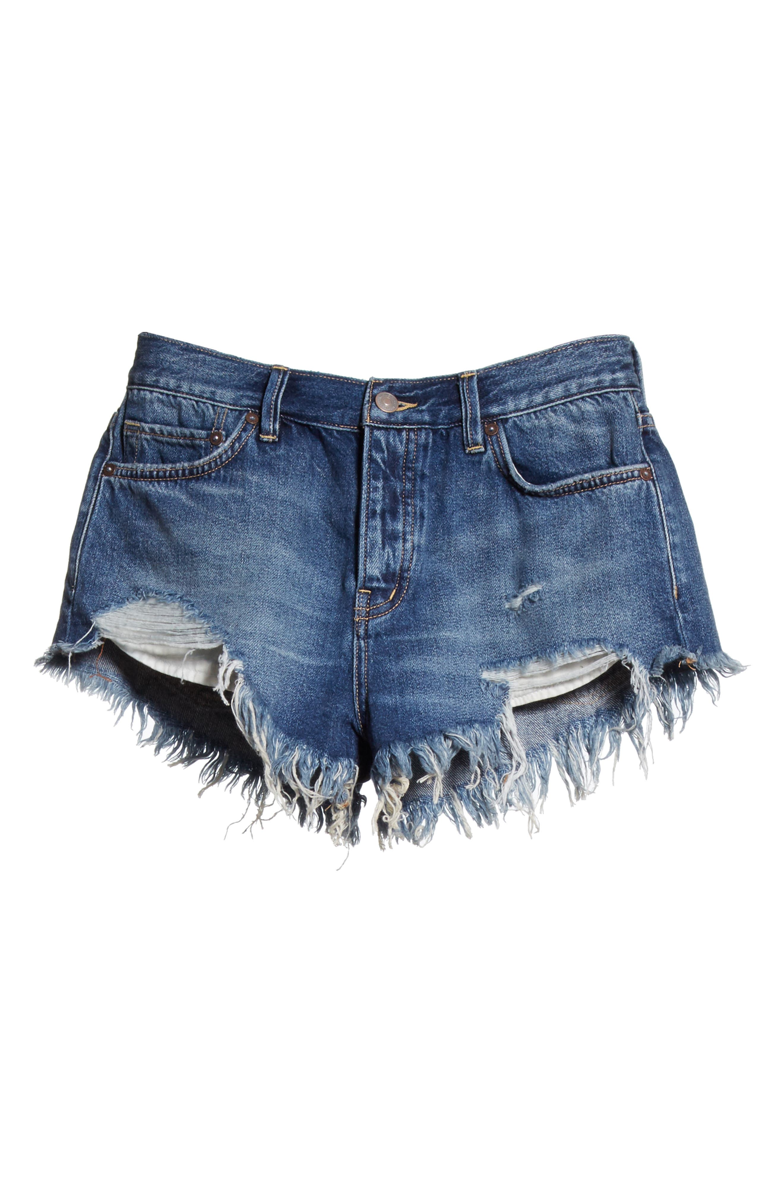 We the Free by Free People Loving Good Vibrations Shorts,                             Alternate thumbnail 8, color,                             Blue Combo