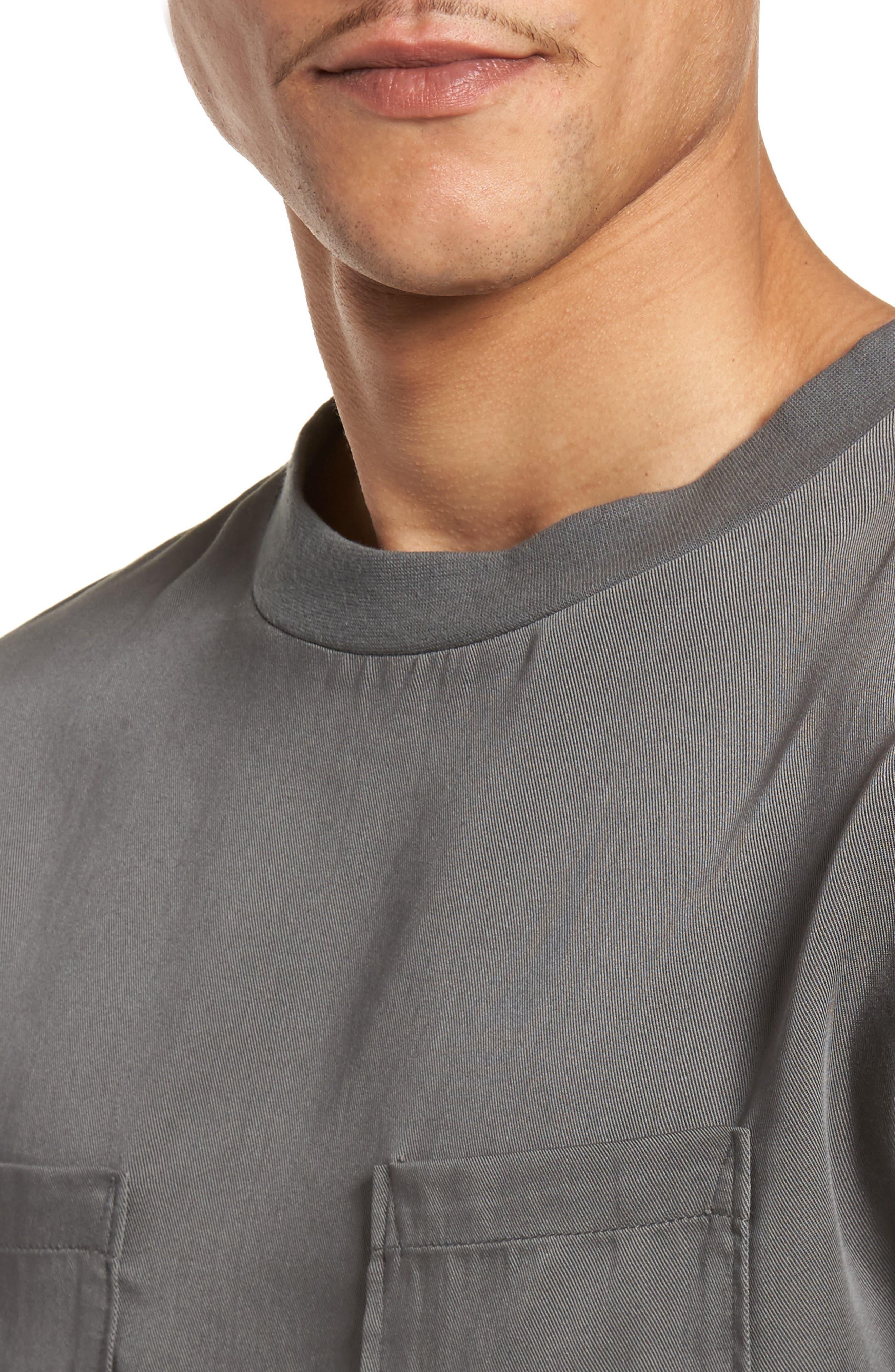 Denali Woven T-Shirt,                             Alternate thumbnail 4, color,                             Grey