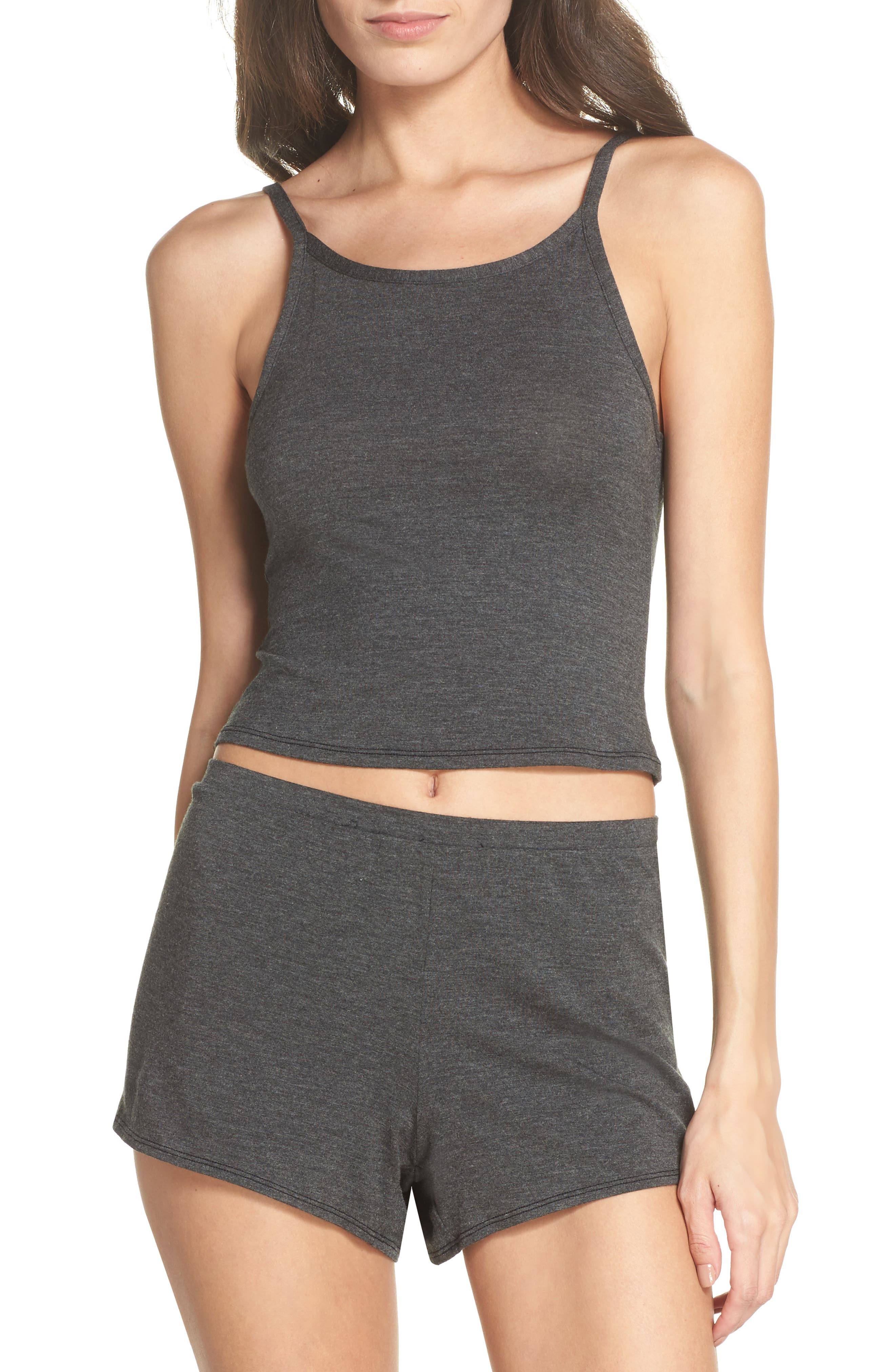 Undressed Cropped Tank,                             Alternate thumbnail 5, color,                             Black