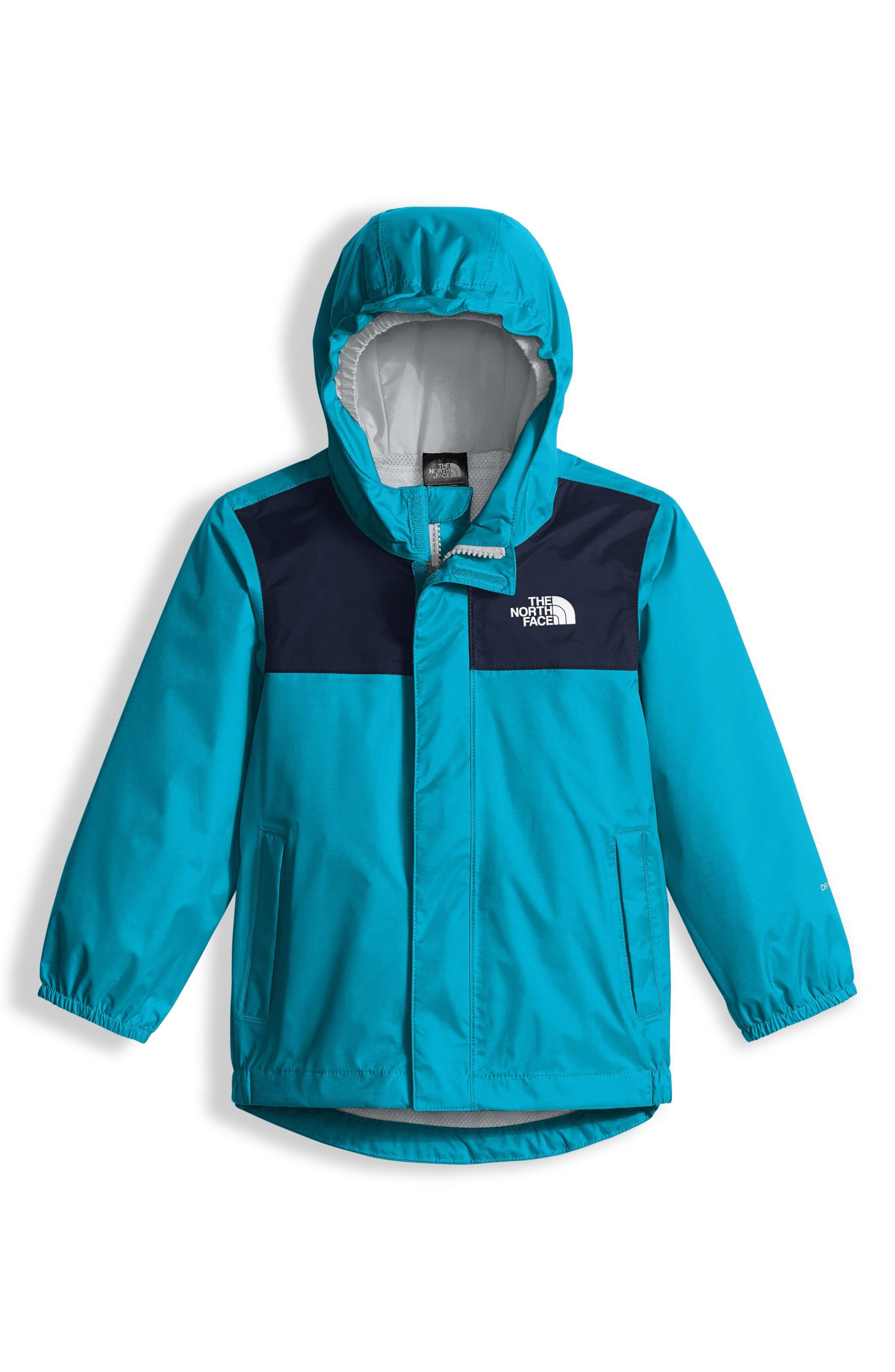 Tailout Hooded Rain Jacket,                         Main,                         color, Turquoise Blue