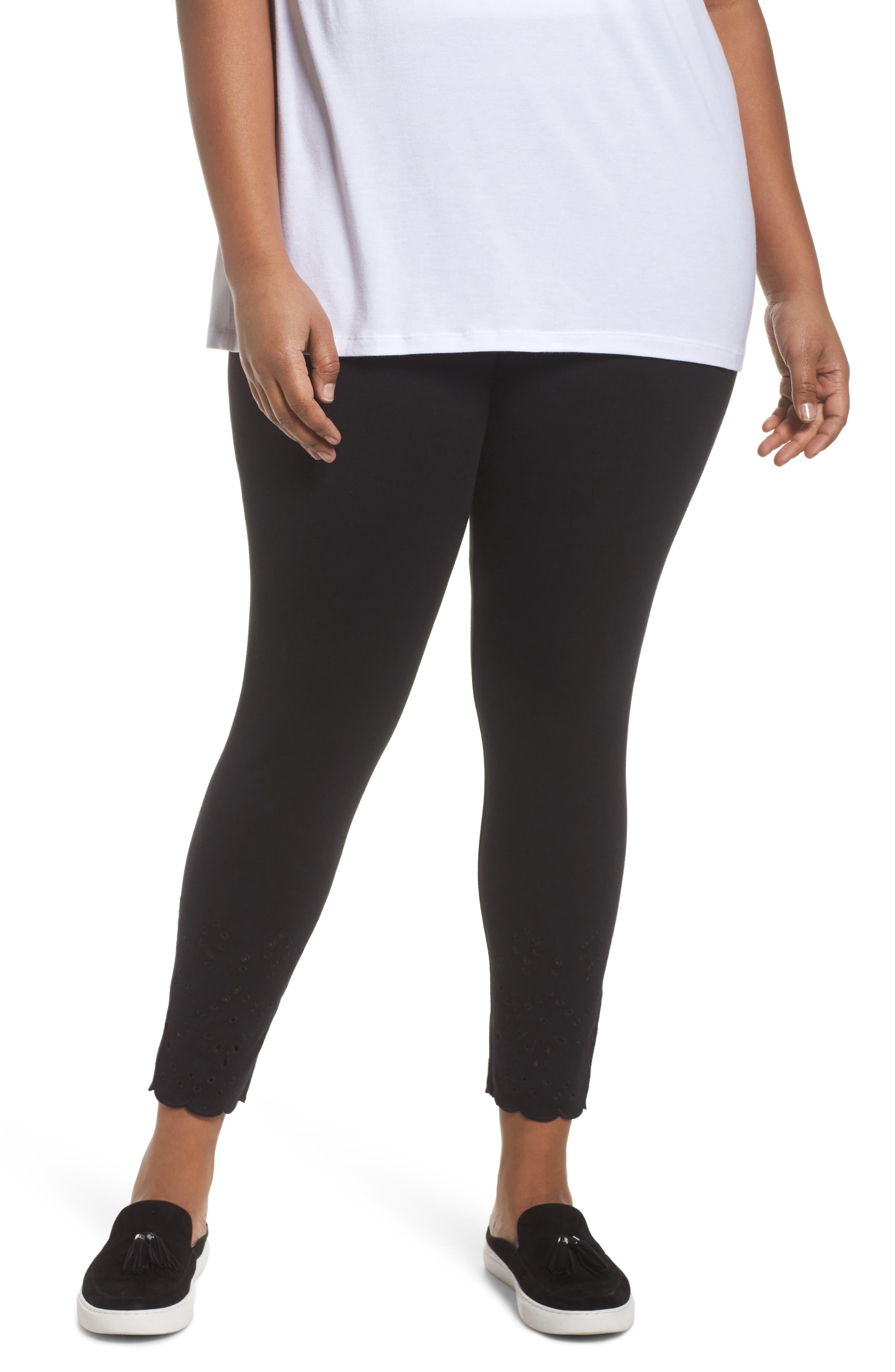 Eyelet Skimmer Leggings,                         Main,                         color, Black