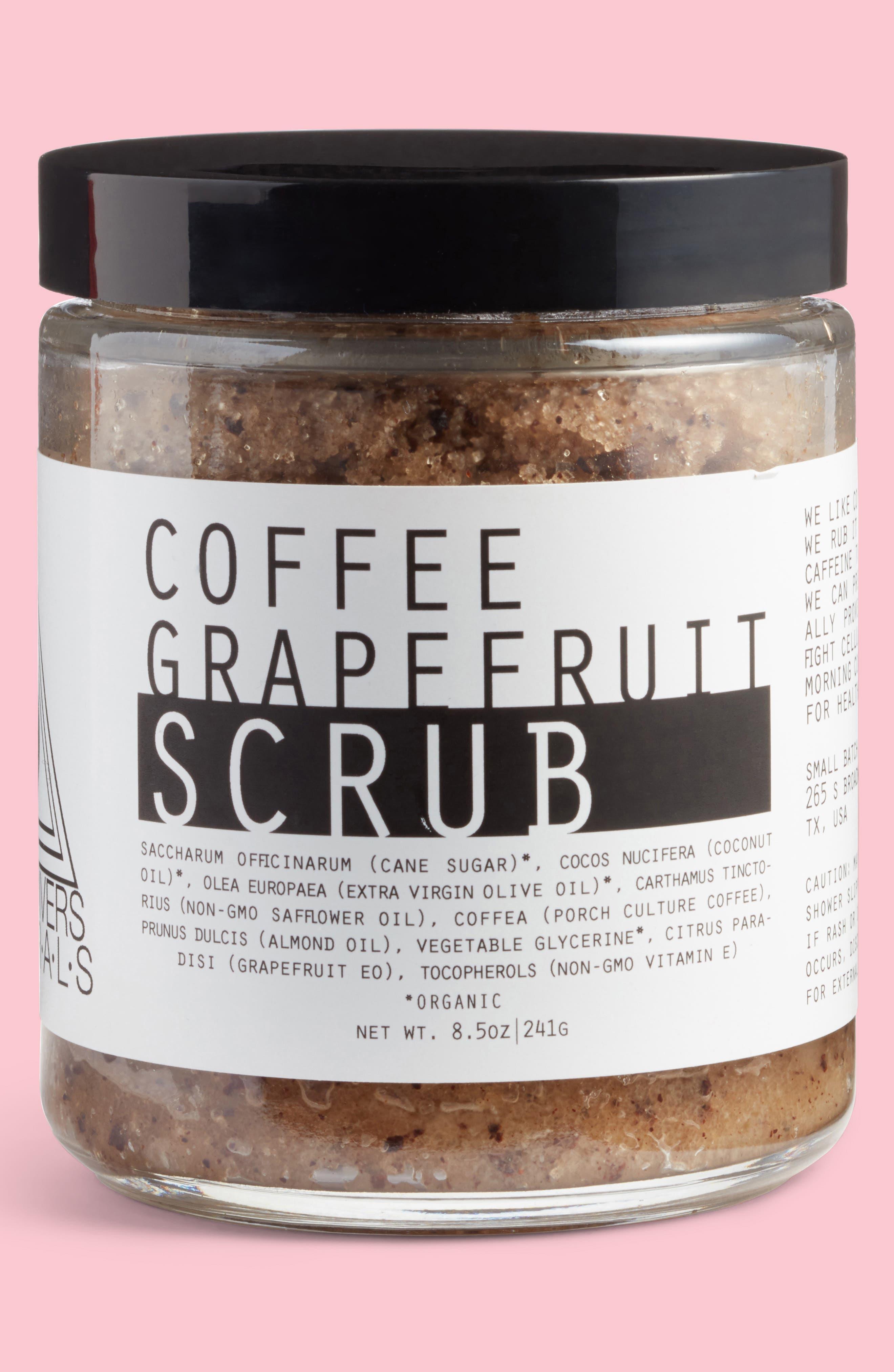 Coffee Grapefruit Scrub,                         Main,                         color, Brown