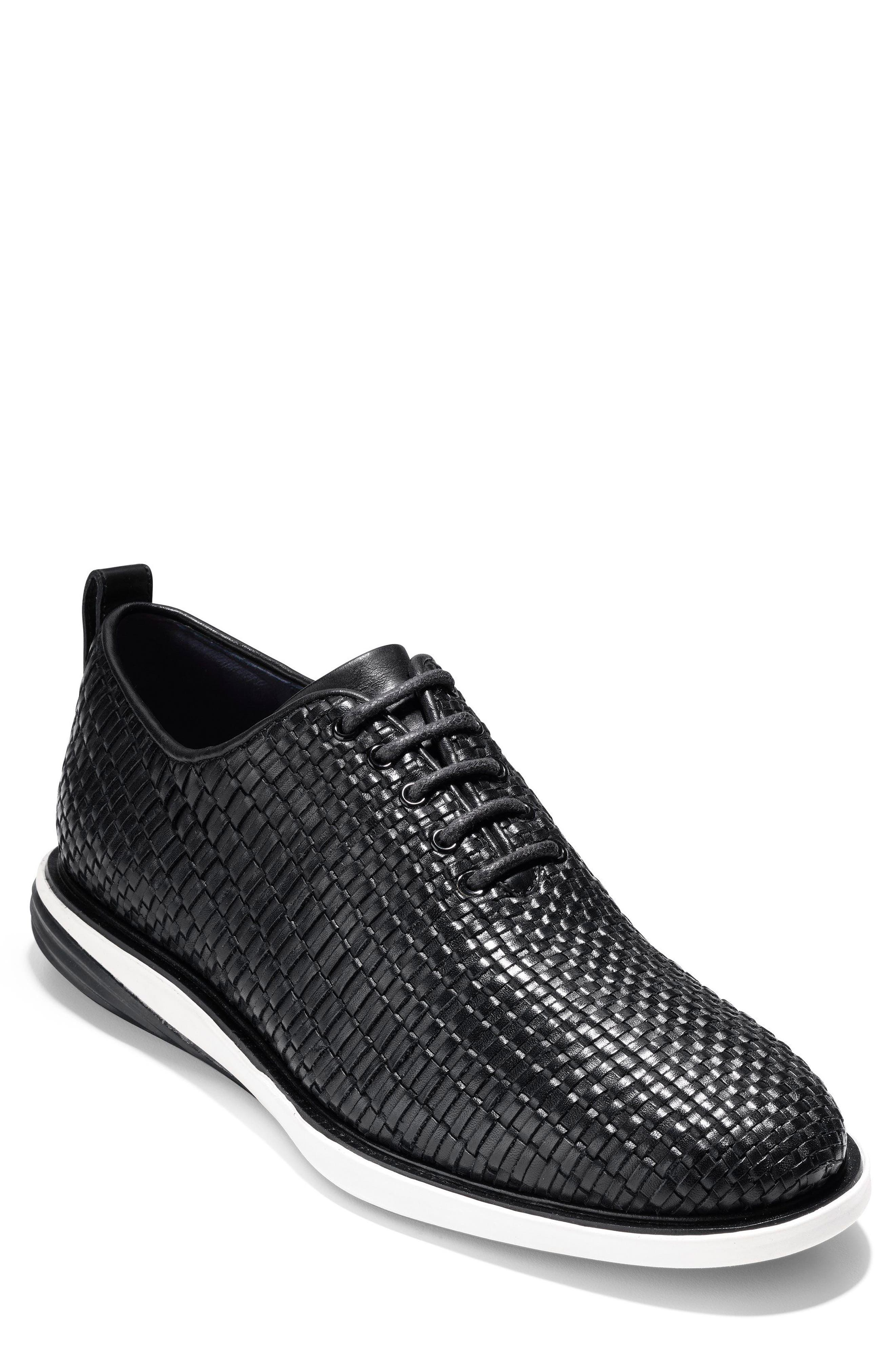 Grand Evolution Woven Oxford,                             Main thumbnail 1, color,                             Black Leather