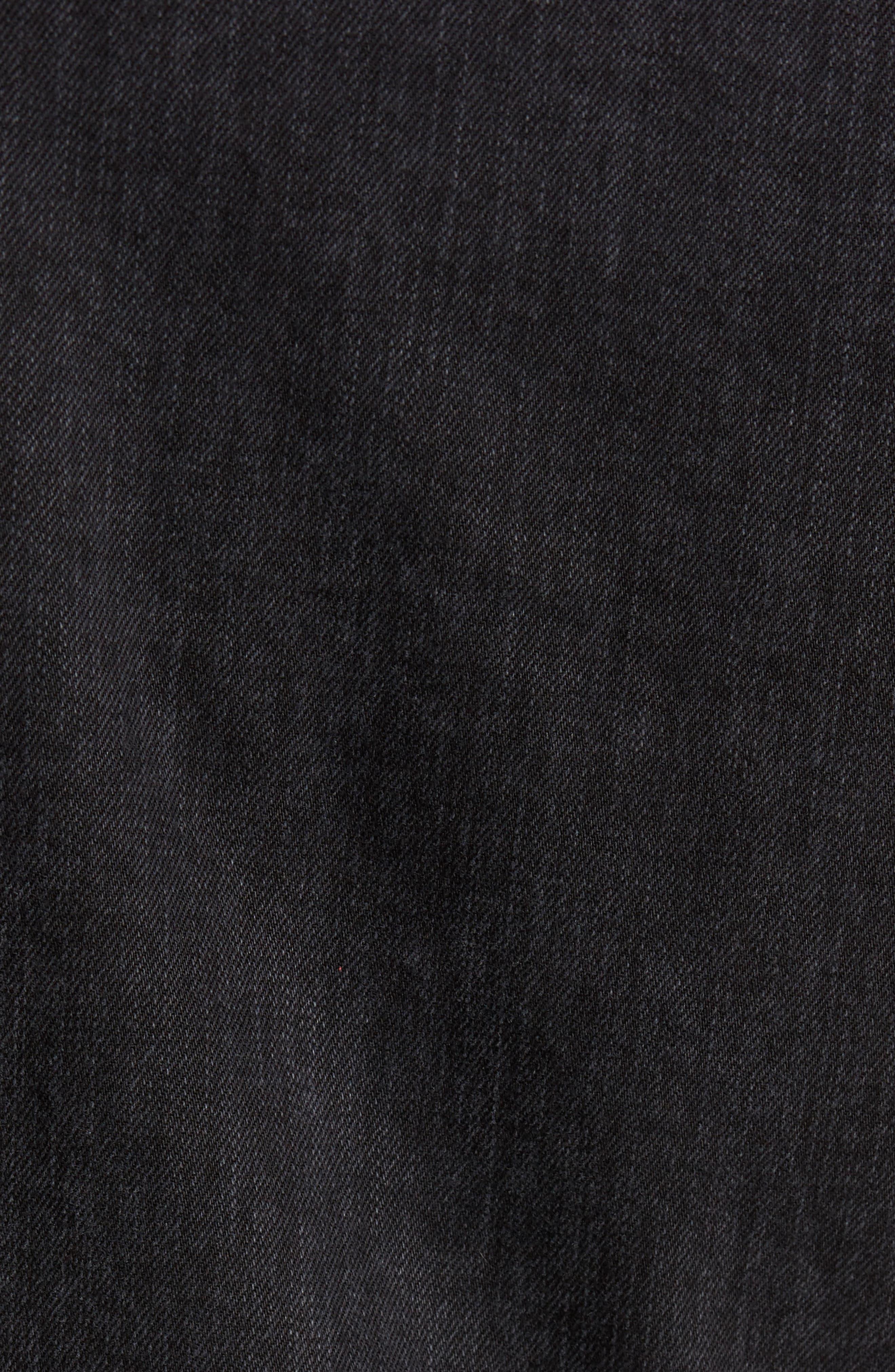 Denim Jacket,                             Alternate thumbnail 5, color,                             Black Wash