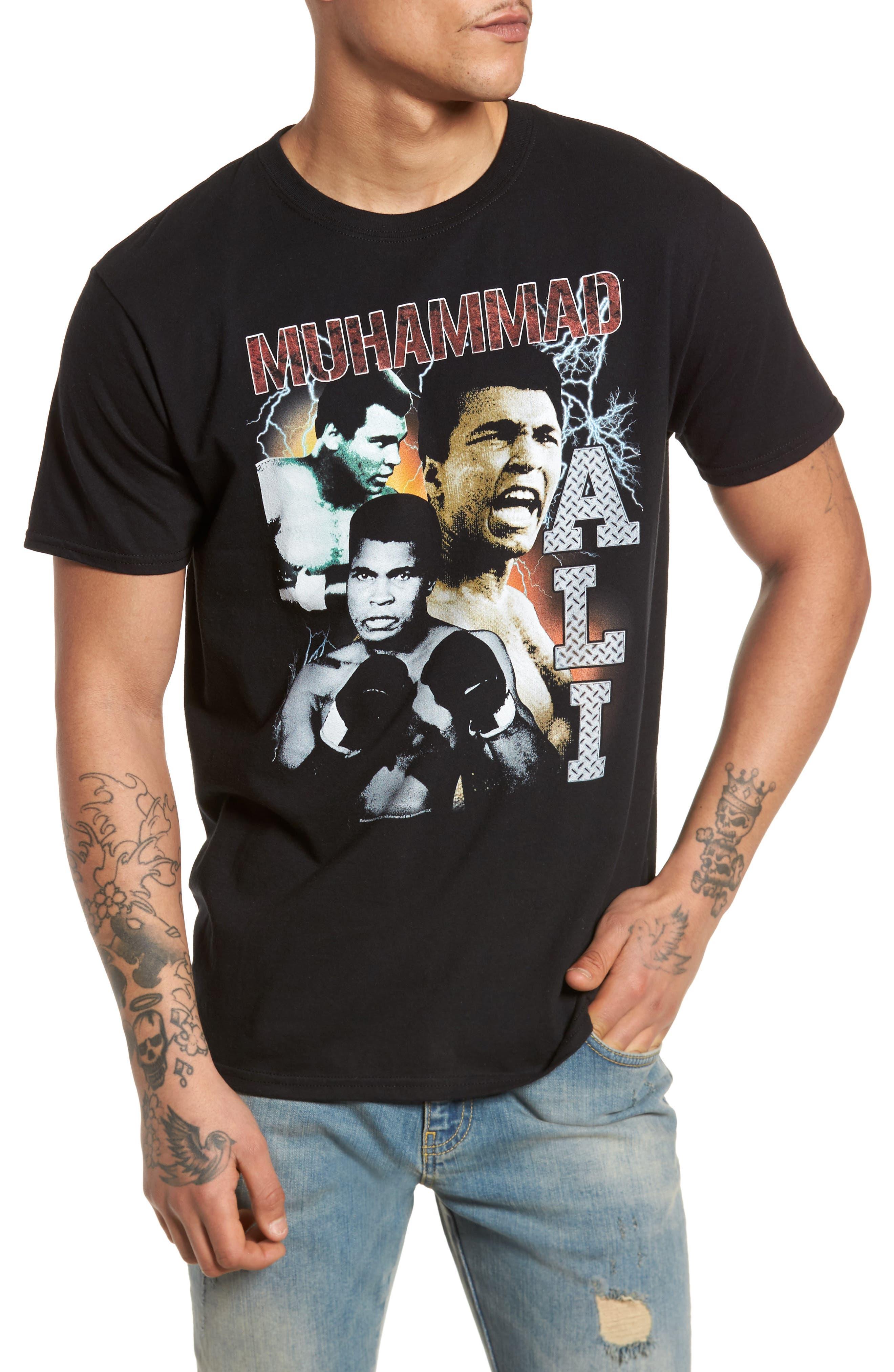 Muhammad Ali Graphic T-Shirt,                         Main,                         color, Black Tee Muhammad Ali