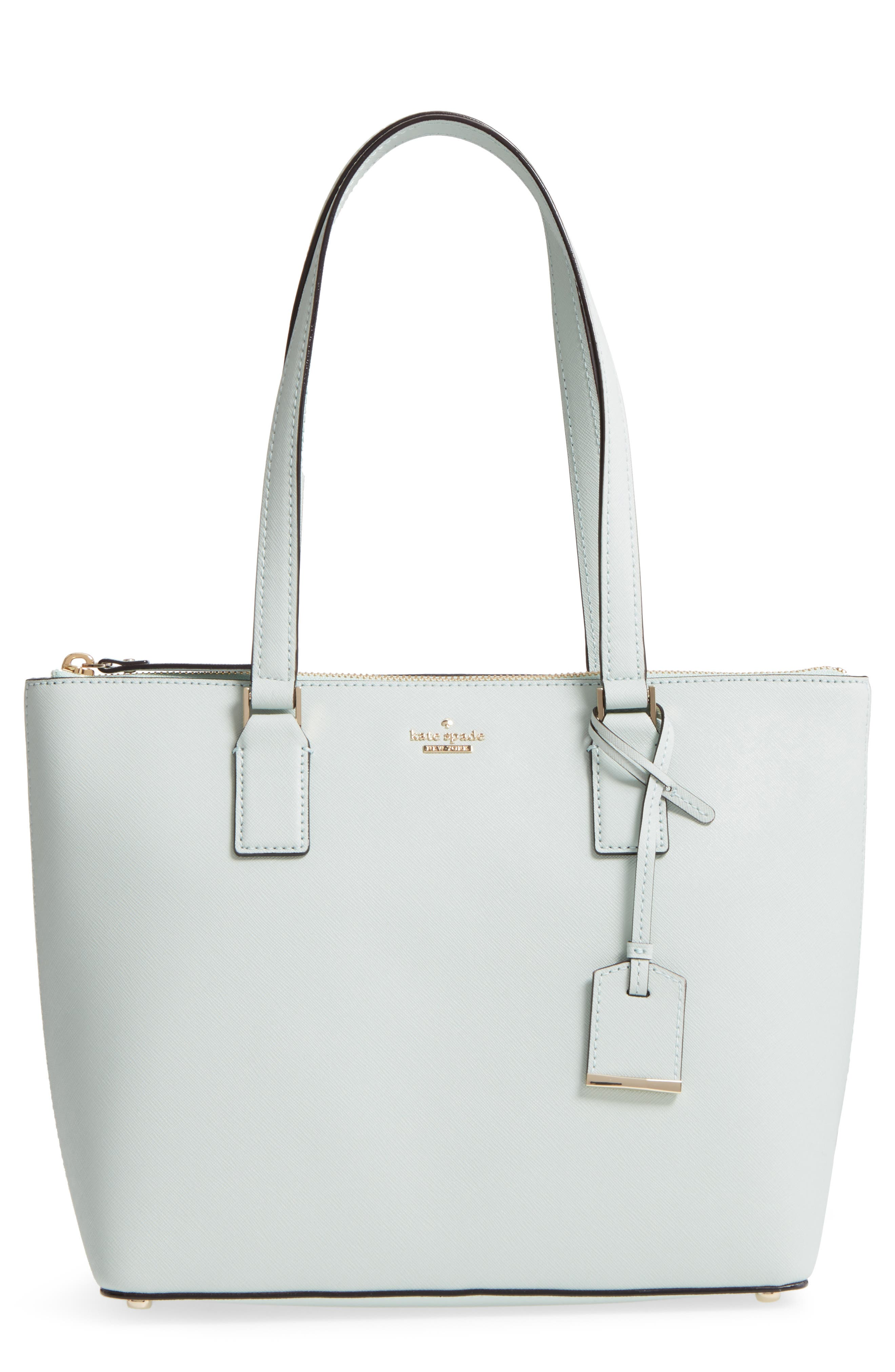 cameron street - small lucie leather tote,                         Main,                         color, Misty Mint