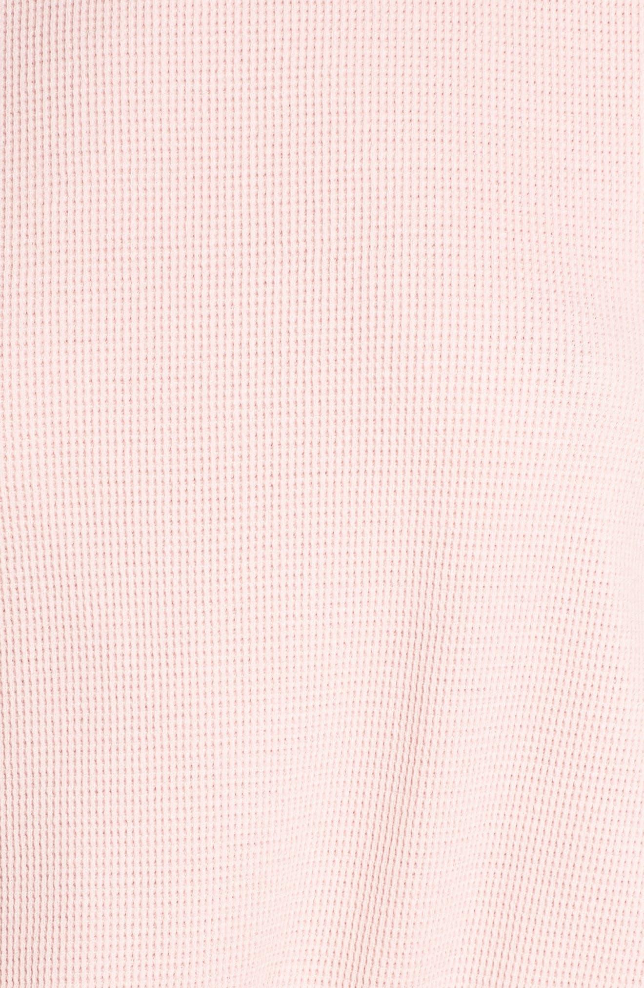 Thermal Short Pajamas,                             Alternate thumbnail 6, color,                             Pink Silver