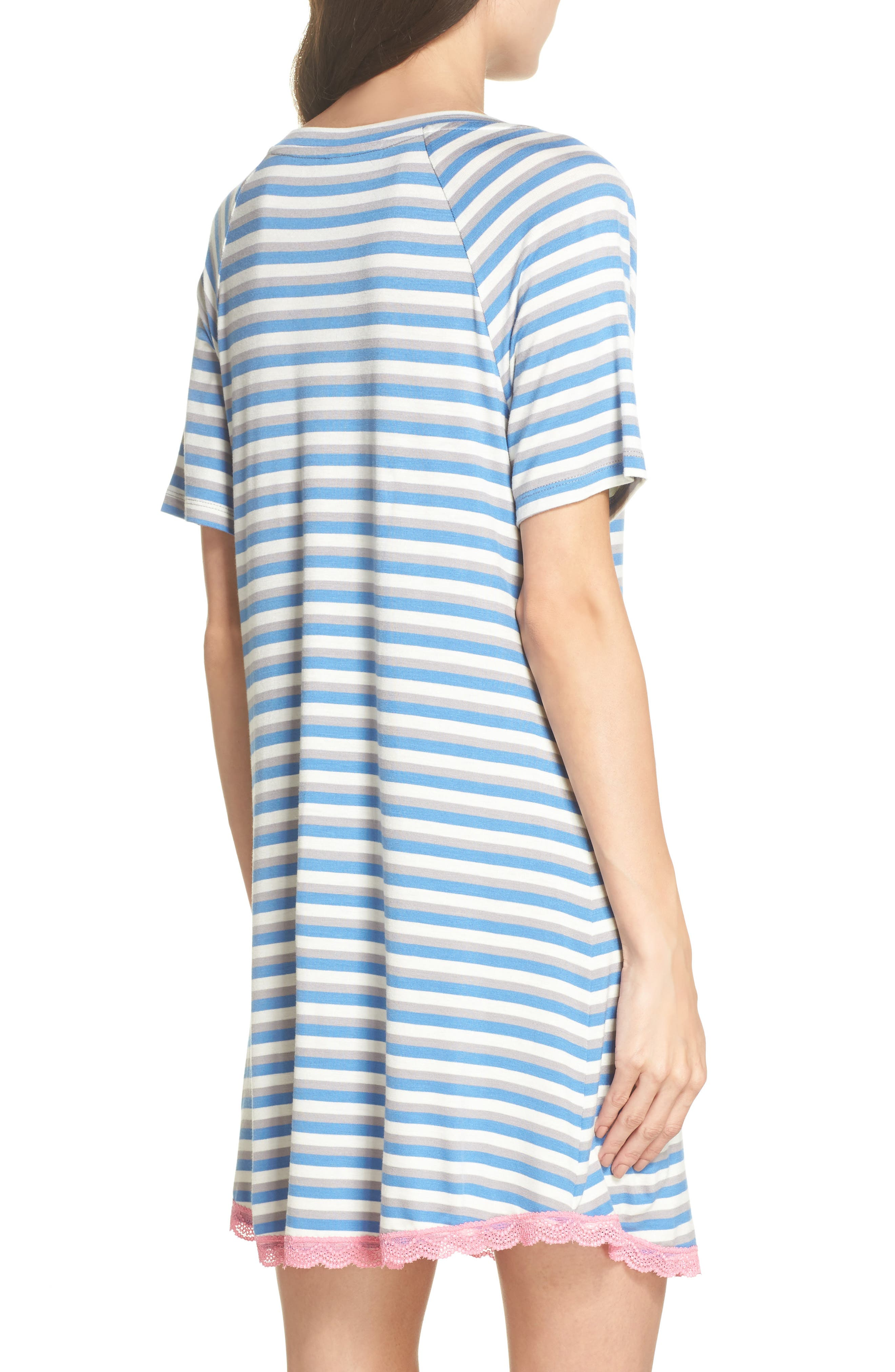 Alternate Image 2  - Honeydew Lace Trim Sleep Shirt (2 for $60)