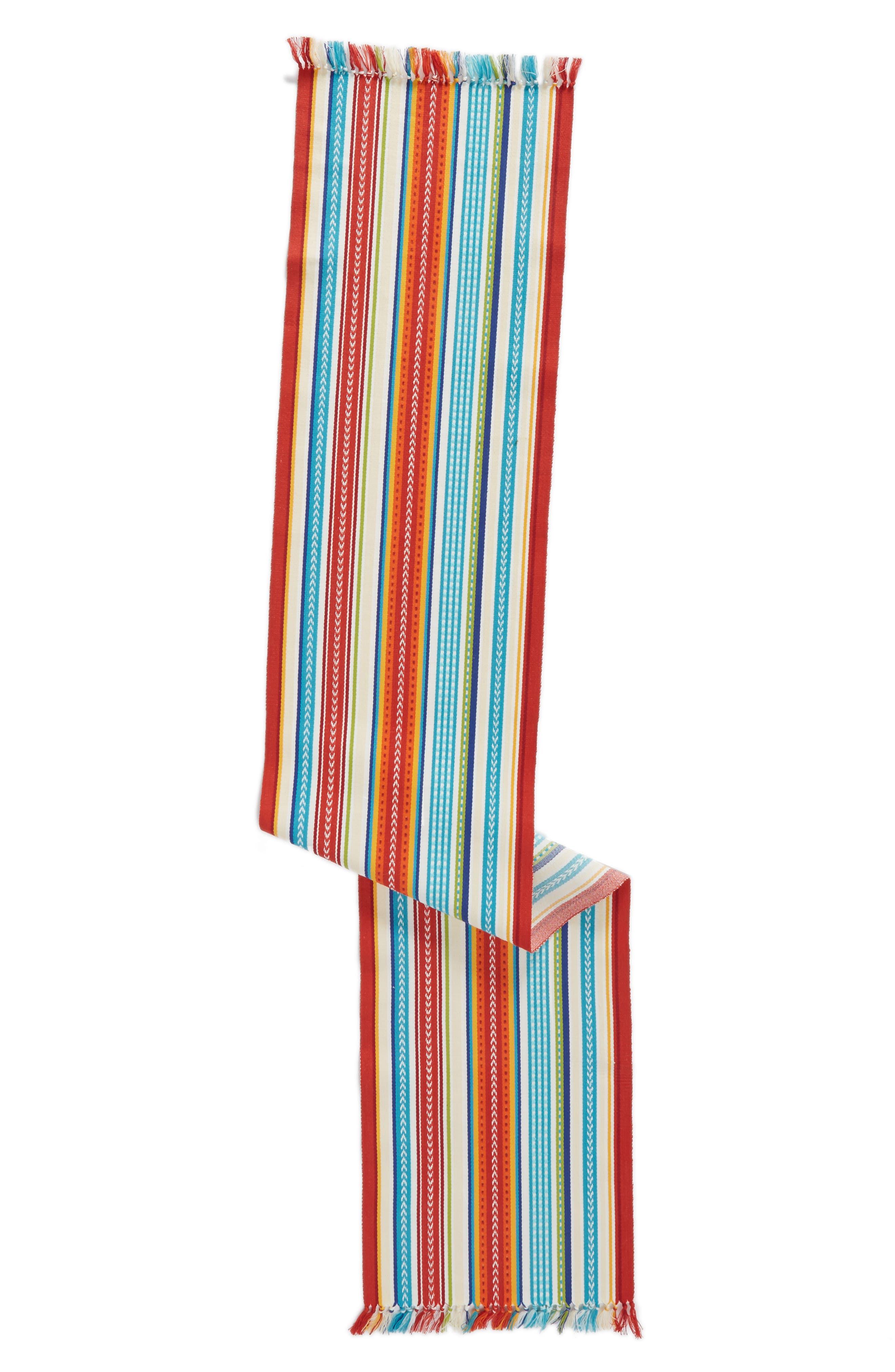 Design Imports Baja Stripe Table Runner