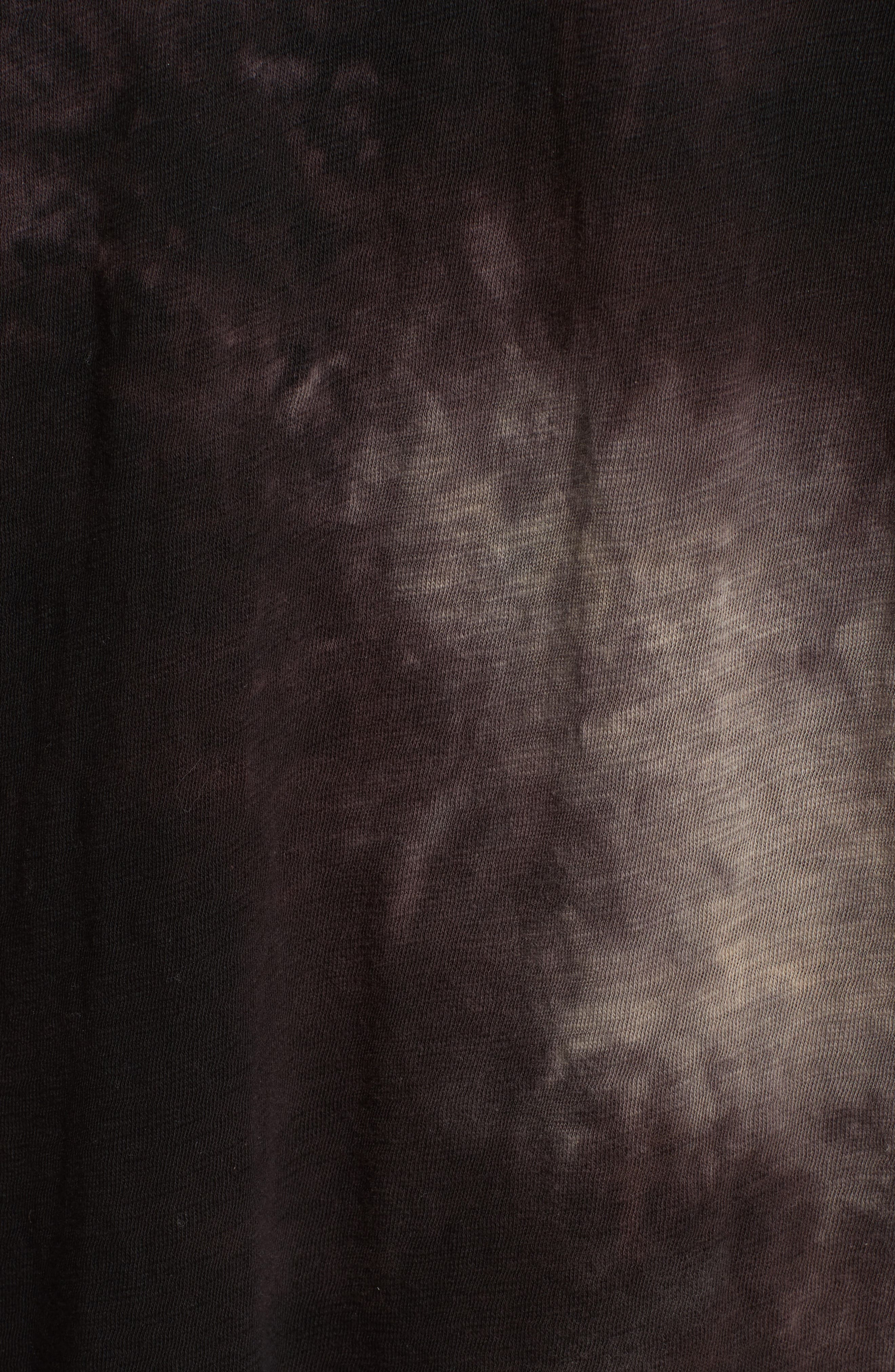 Tie Dye Jersey T-Shirt Dress,                             Alternate thumbnail 5, color,                             Black Tie Die