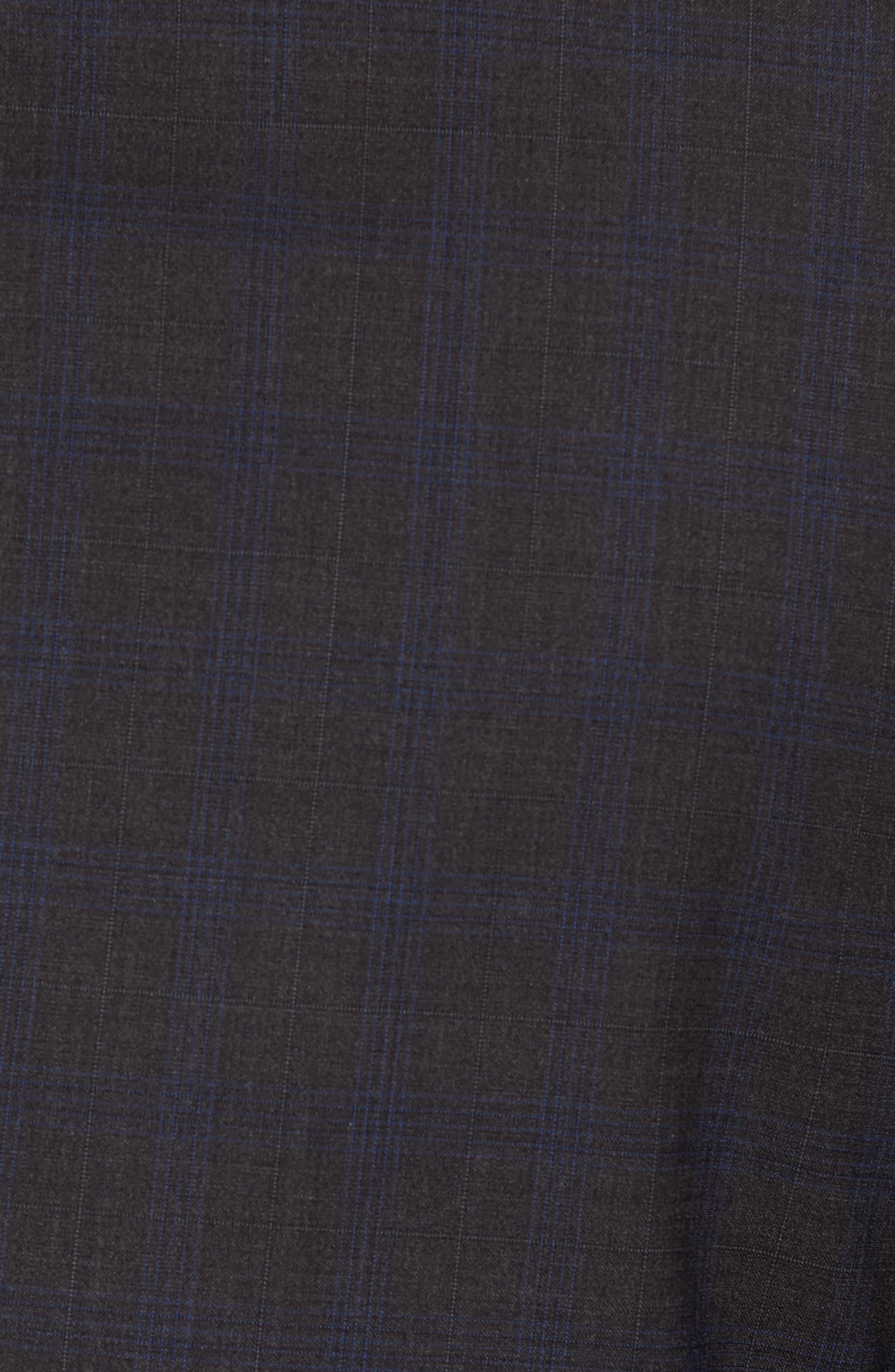 Wellar Grey Blue Plaid Sport Coat,                             Alternate thumbnail 5, color,                             Grey