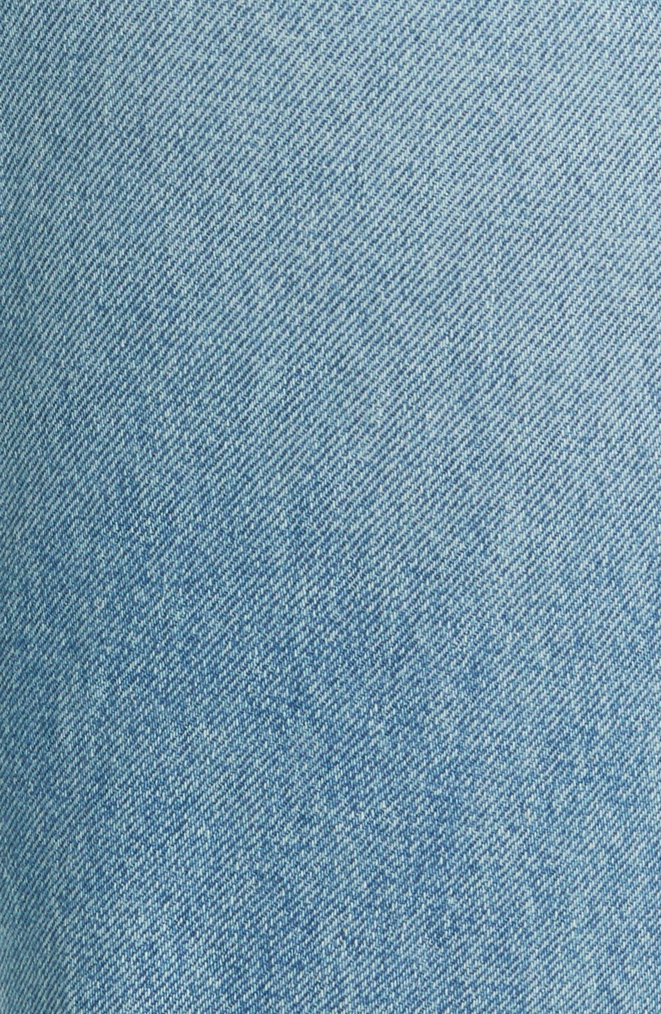 Alternate Image 5  - GRLFRND Maran Wide Leg Crop Jeans (Archaic)