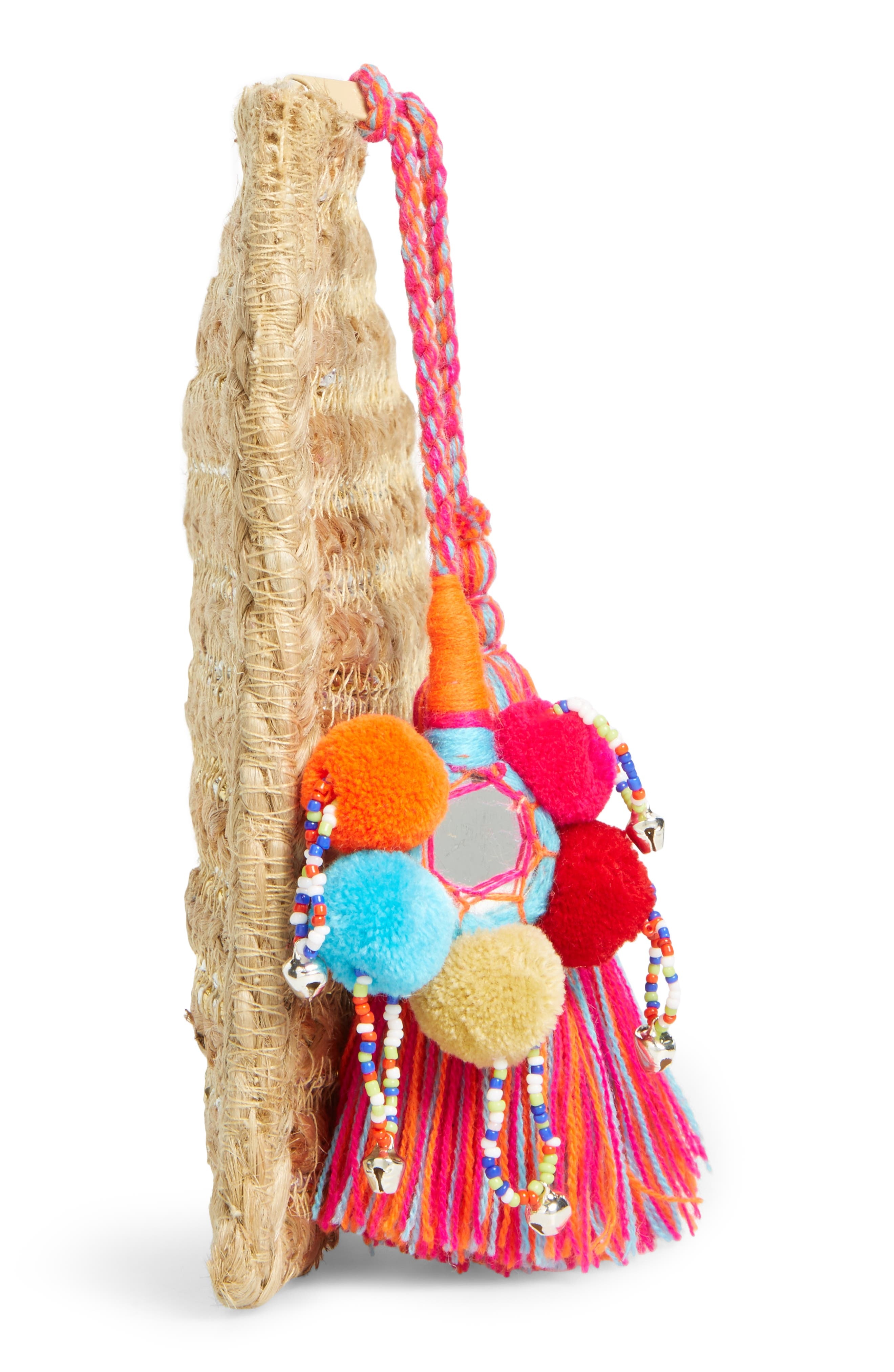 Alternate Image 5  - Shiraleah Kali Embellished Straw Clutch