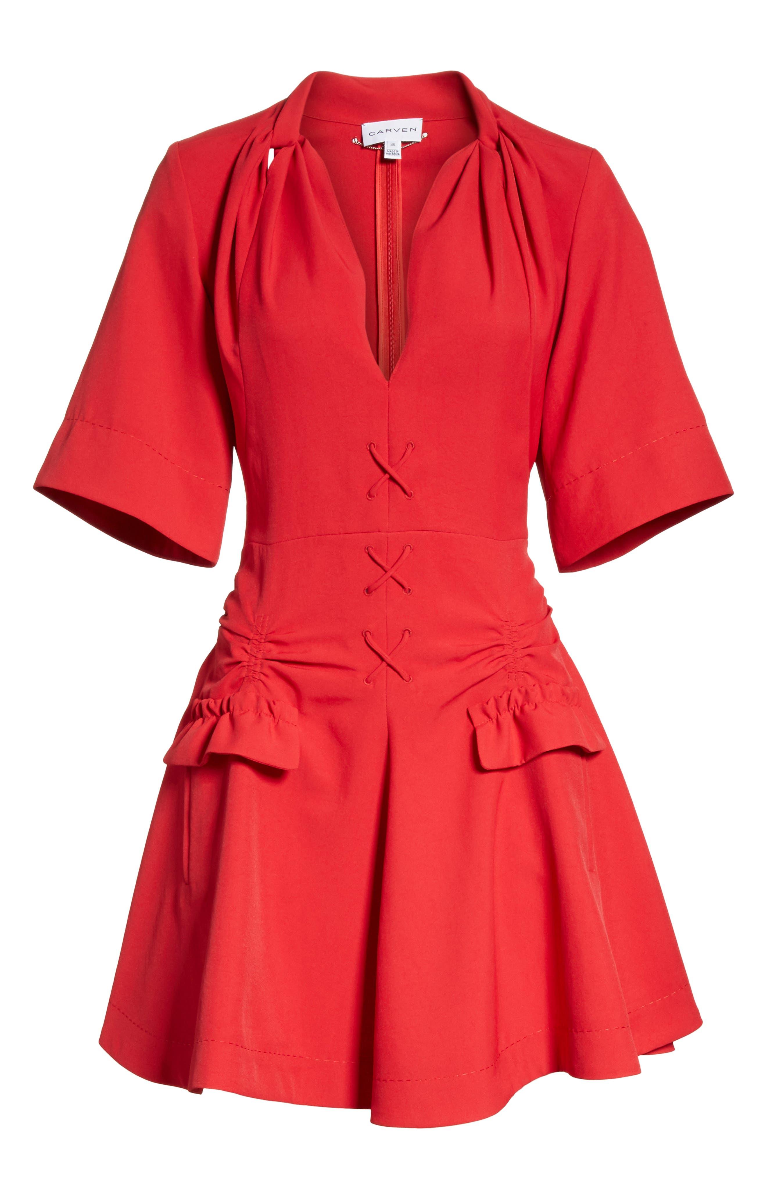 Alternate Image 6  - Carven Robe Courte Lace-Up Dress