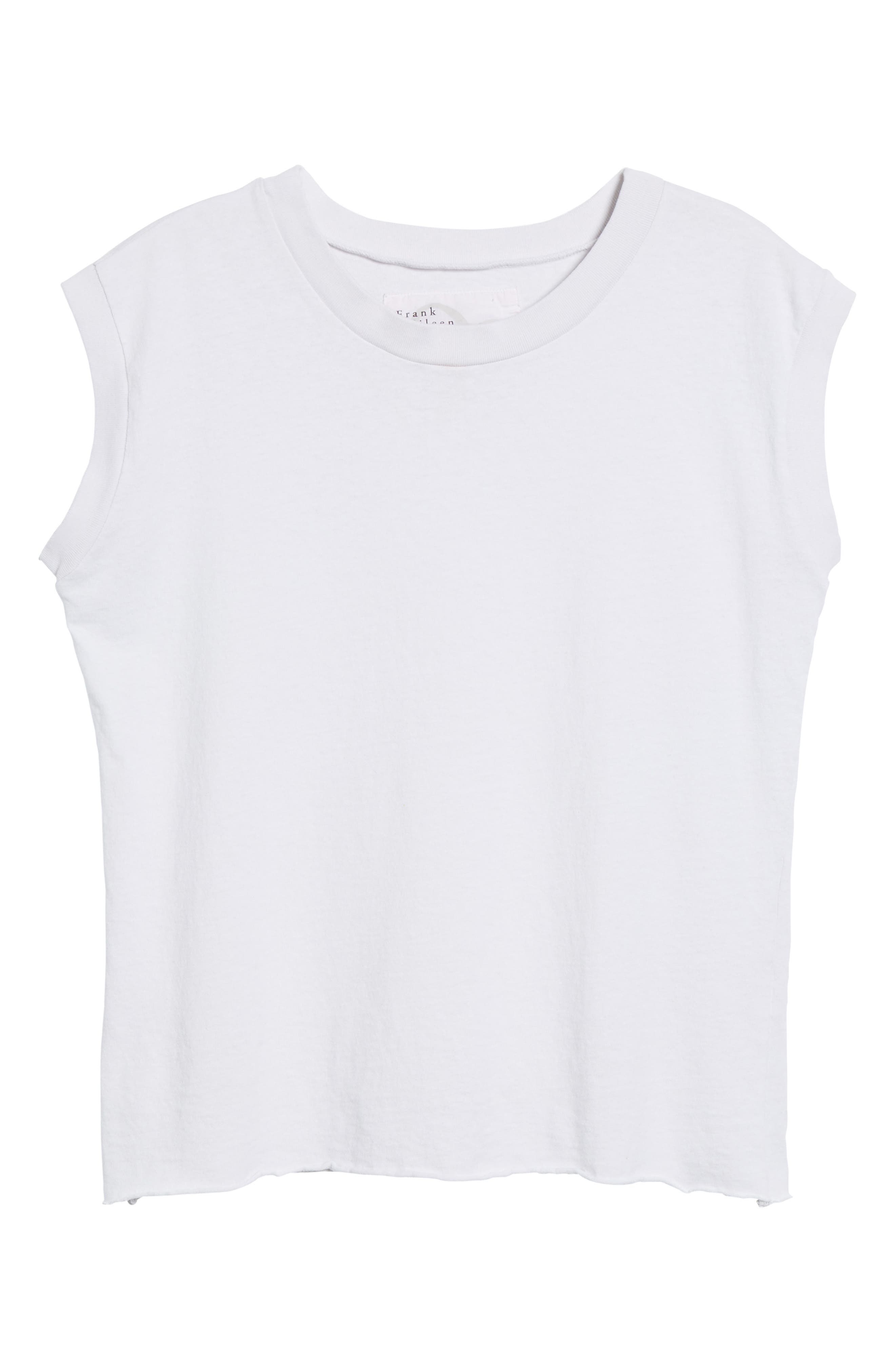 Tee Lab Muscle Tank,                             Alternate thumbnail 6, color,                             Dirty White