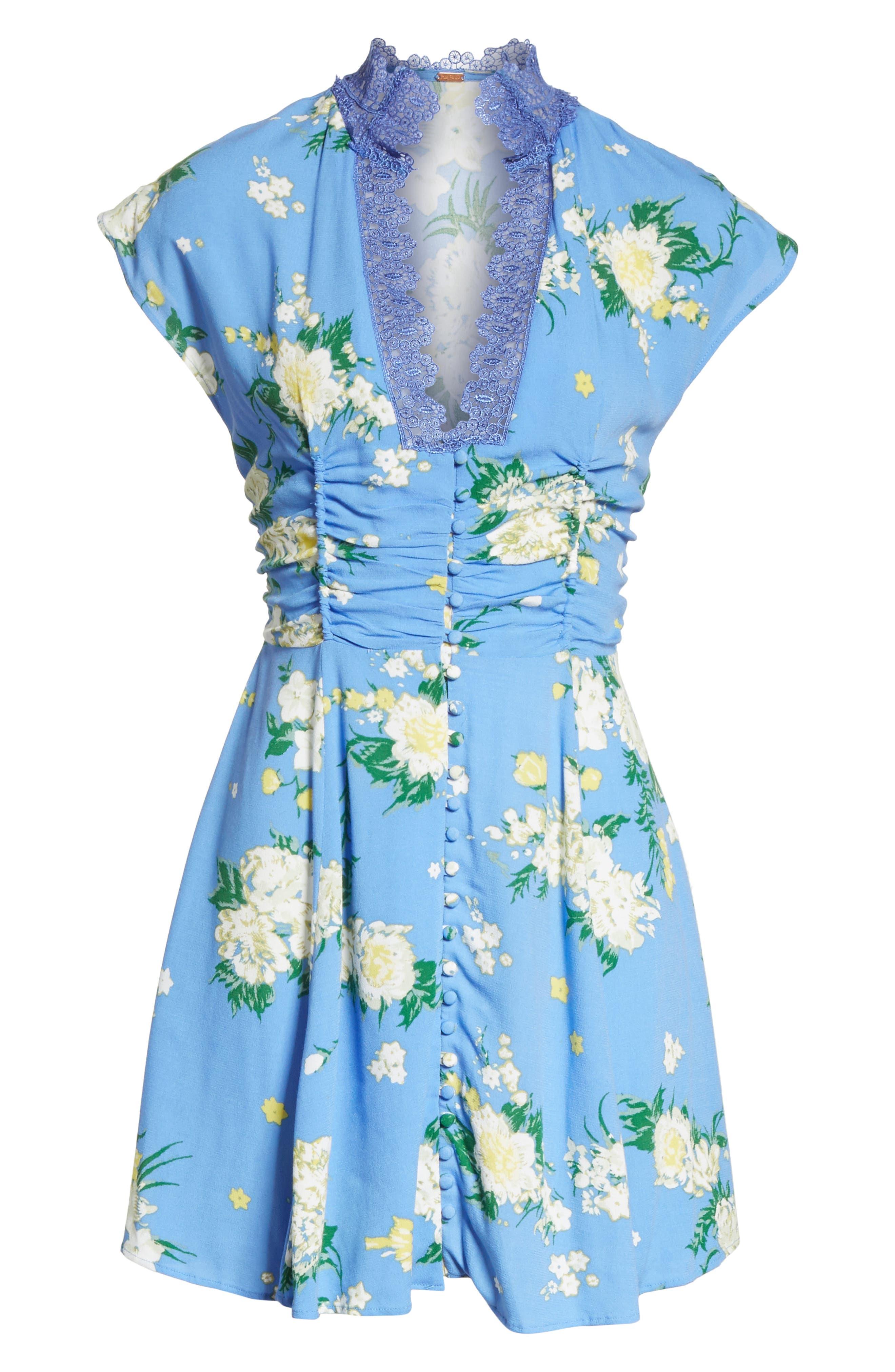 Alora Minidress,                             Alternate thumbnail 6, color,                             Blue Combo