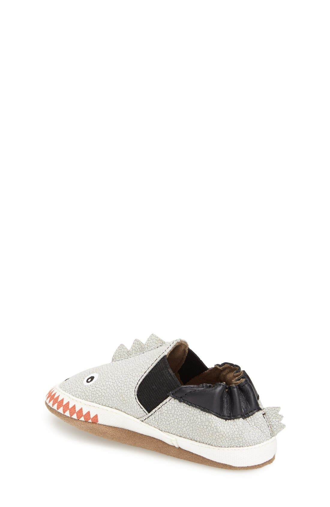 Alternate Image 2  - Robeez® 'Dino Dan' Crib Shoe (Baby & Walker)
