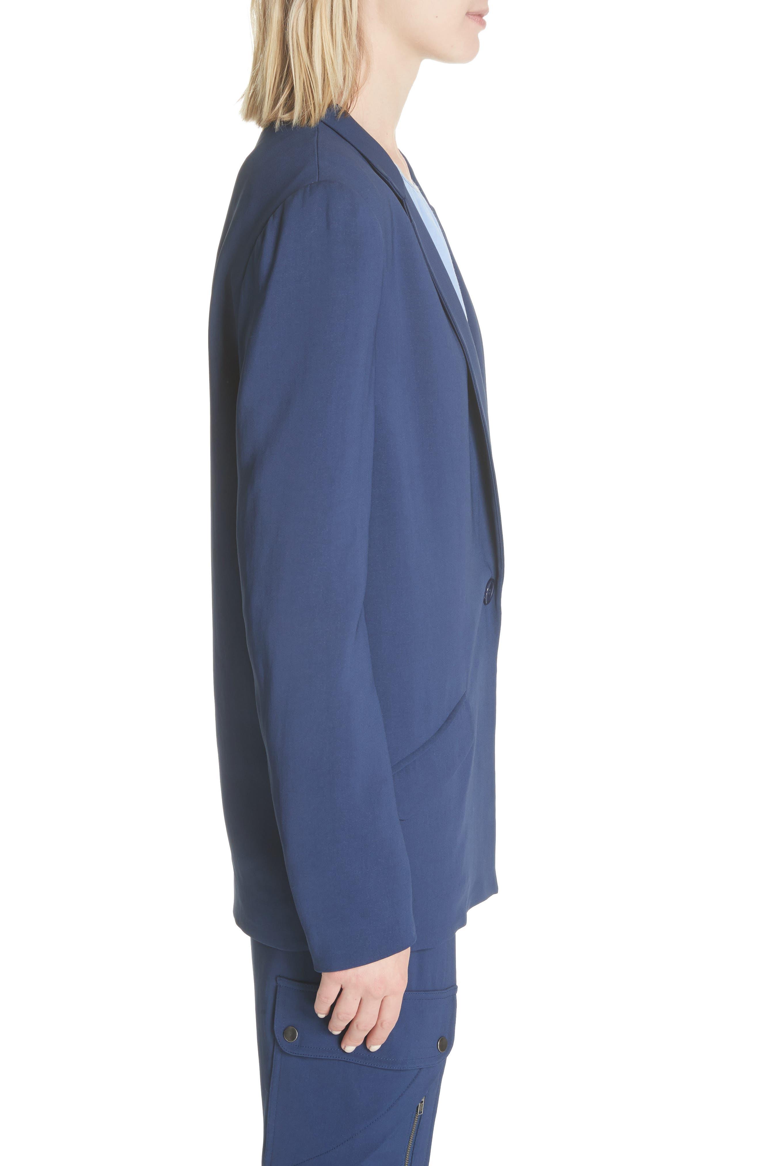 Boxy Suit Jacket,                             Alternate thumbnail 3, color,                             India Ink