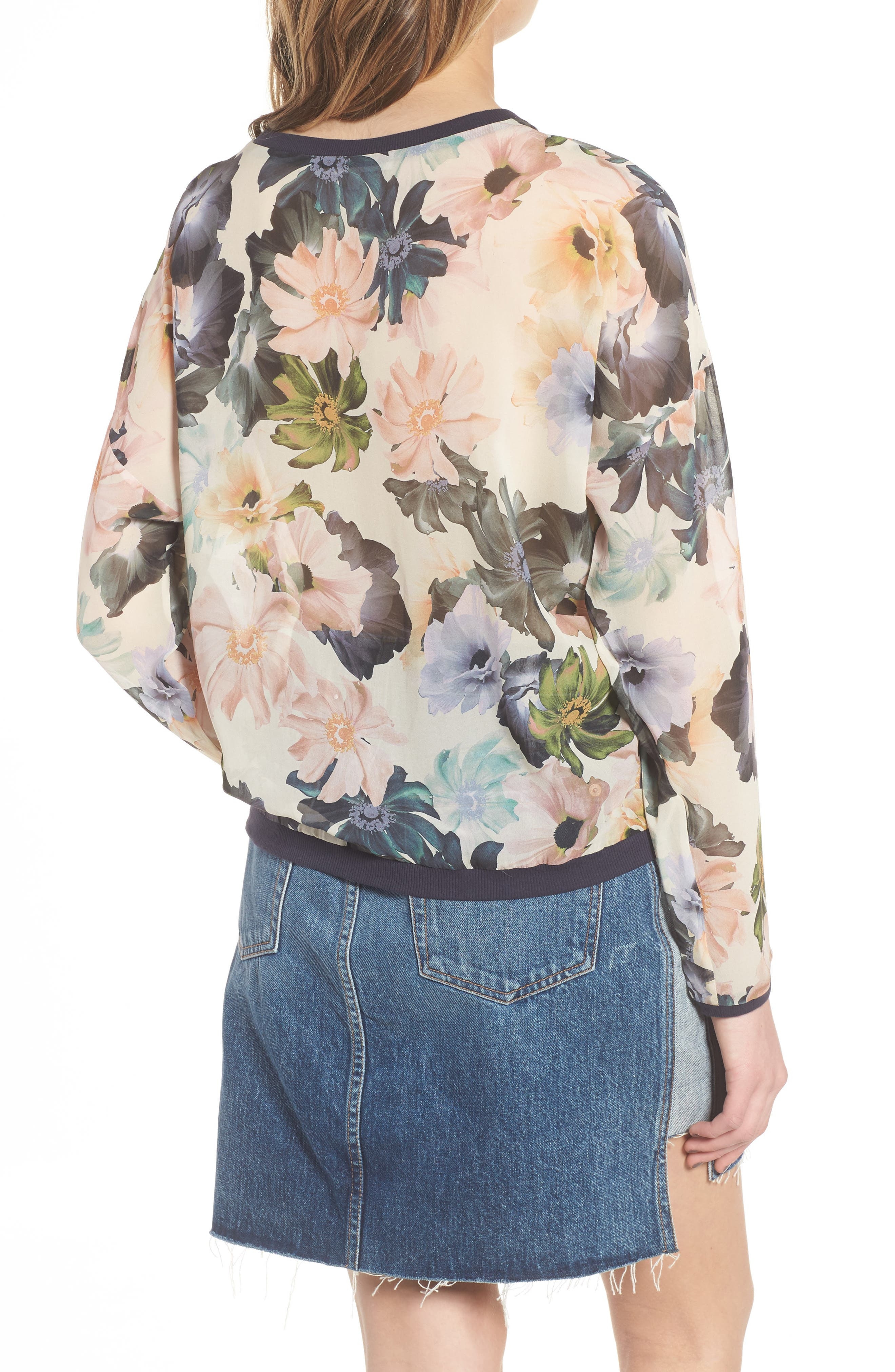 Georgette Sweatshirt,                             Alternate thumbnail 2, color,                             Desert Garden Print