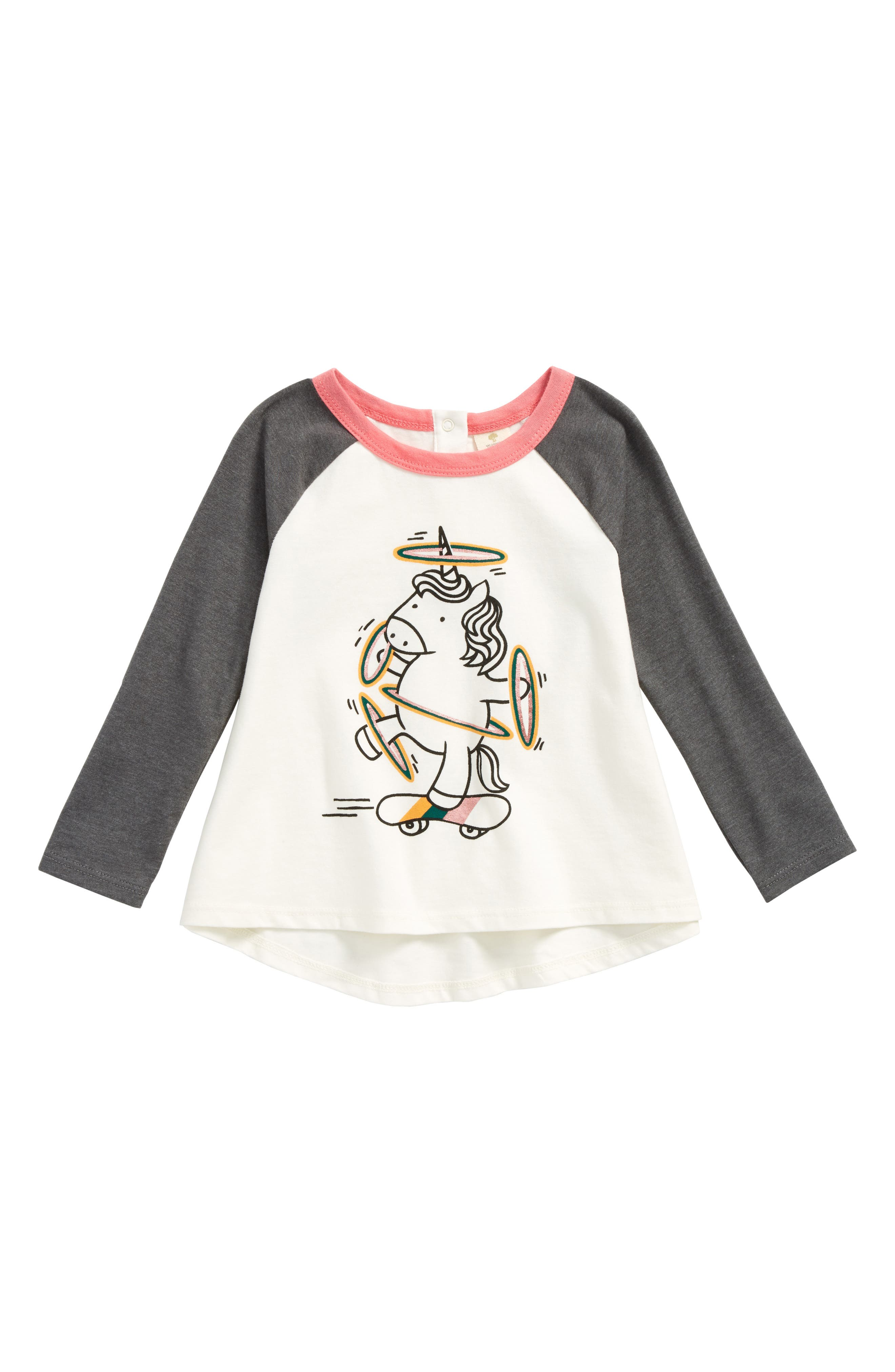 Alternate Image 1 Selected - Tucker + Tate Graphic Raglan Tee (Baby Girls)