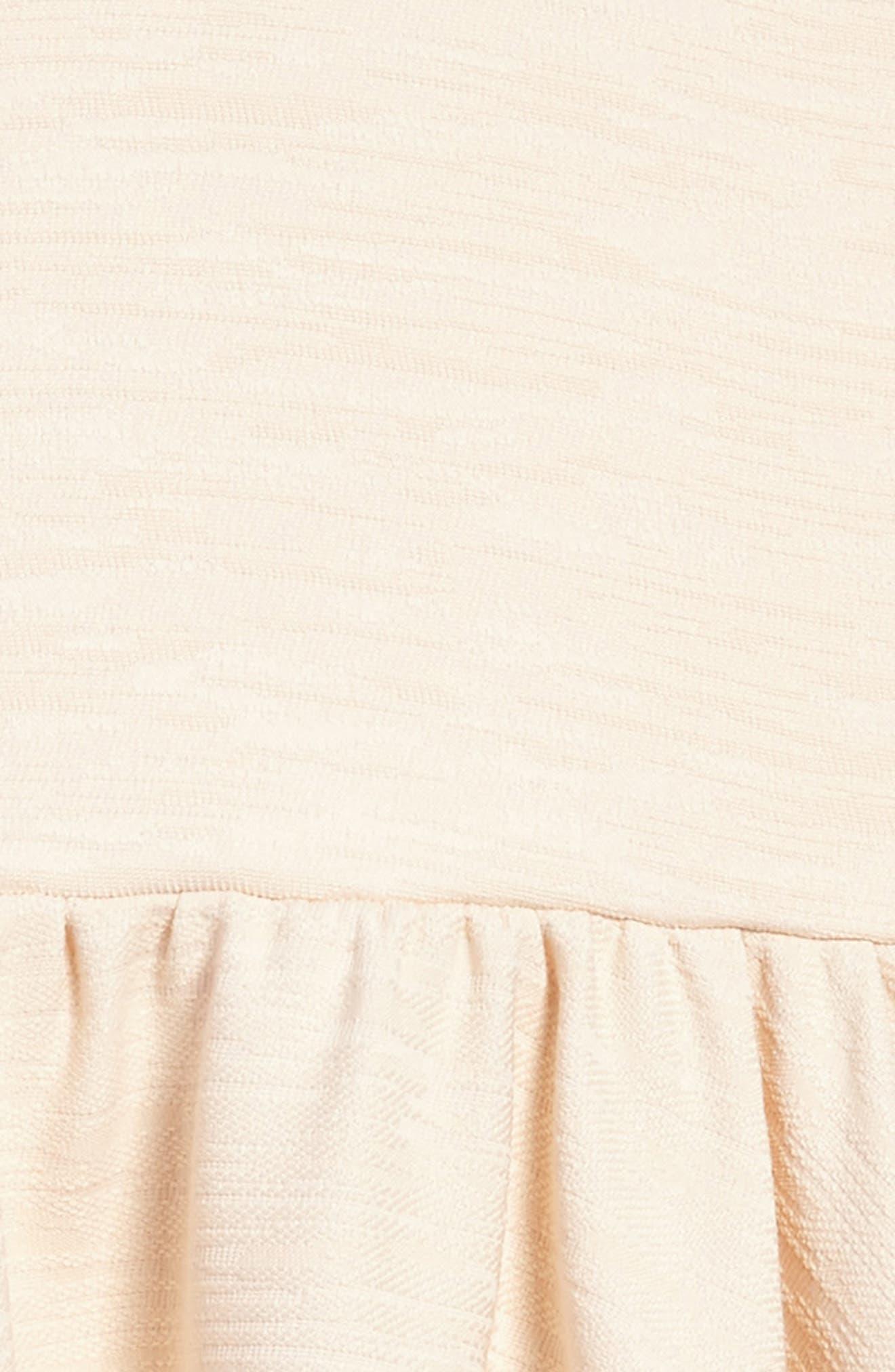 Stephanie Halter Dress,                             Alternate thumbnail 3, color,                             Beige