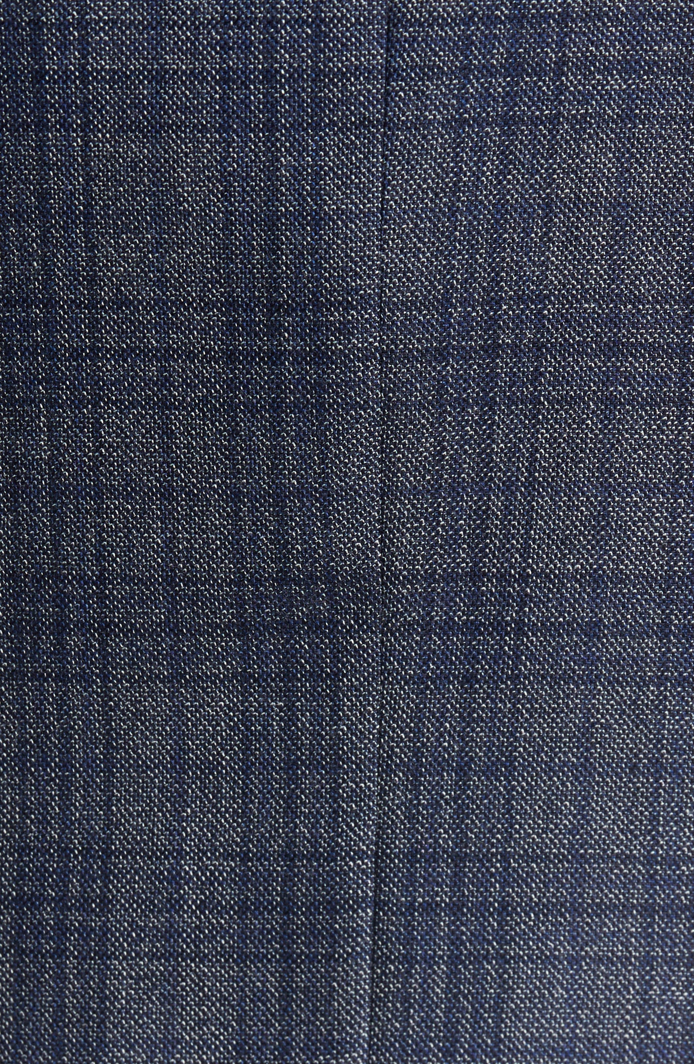 Kyle Trim Fit Plaid Silk & Wool Sport Coat,                             Alternate thumbnail 5, color,                             Grey