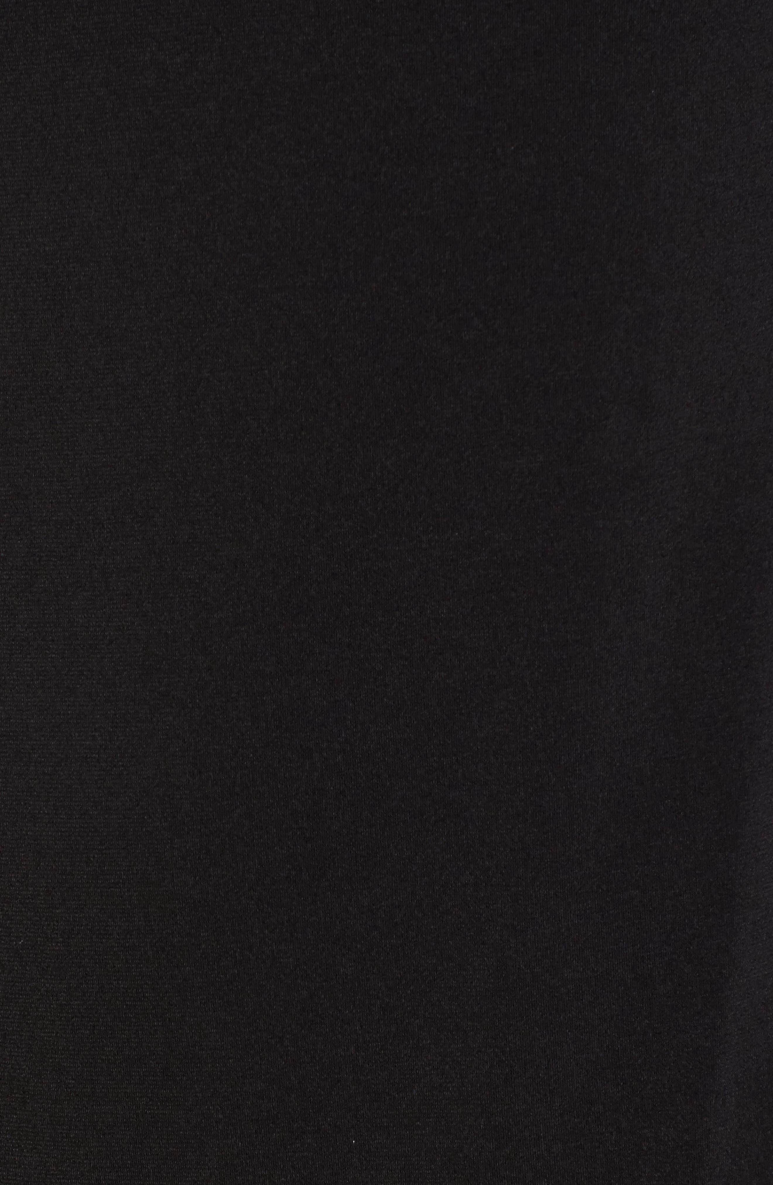 Flounce Panel Long Sleeve Dress,                             Alternate thumbnail 5, color,                             Black