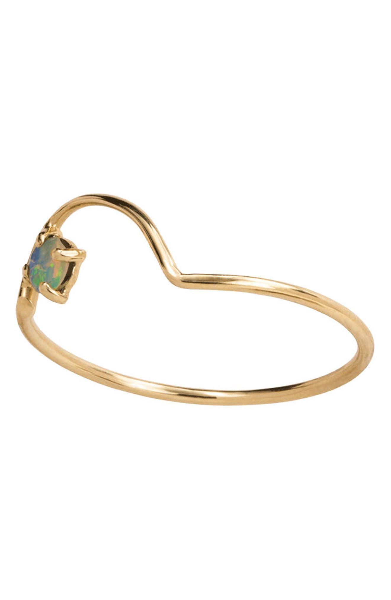 Alternate Image 2  - WWAKE Offset Opal Arc Ring