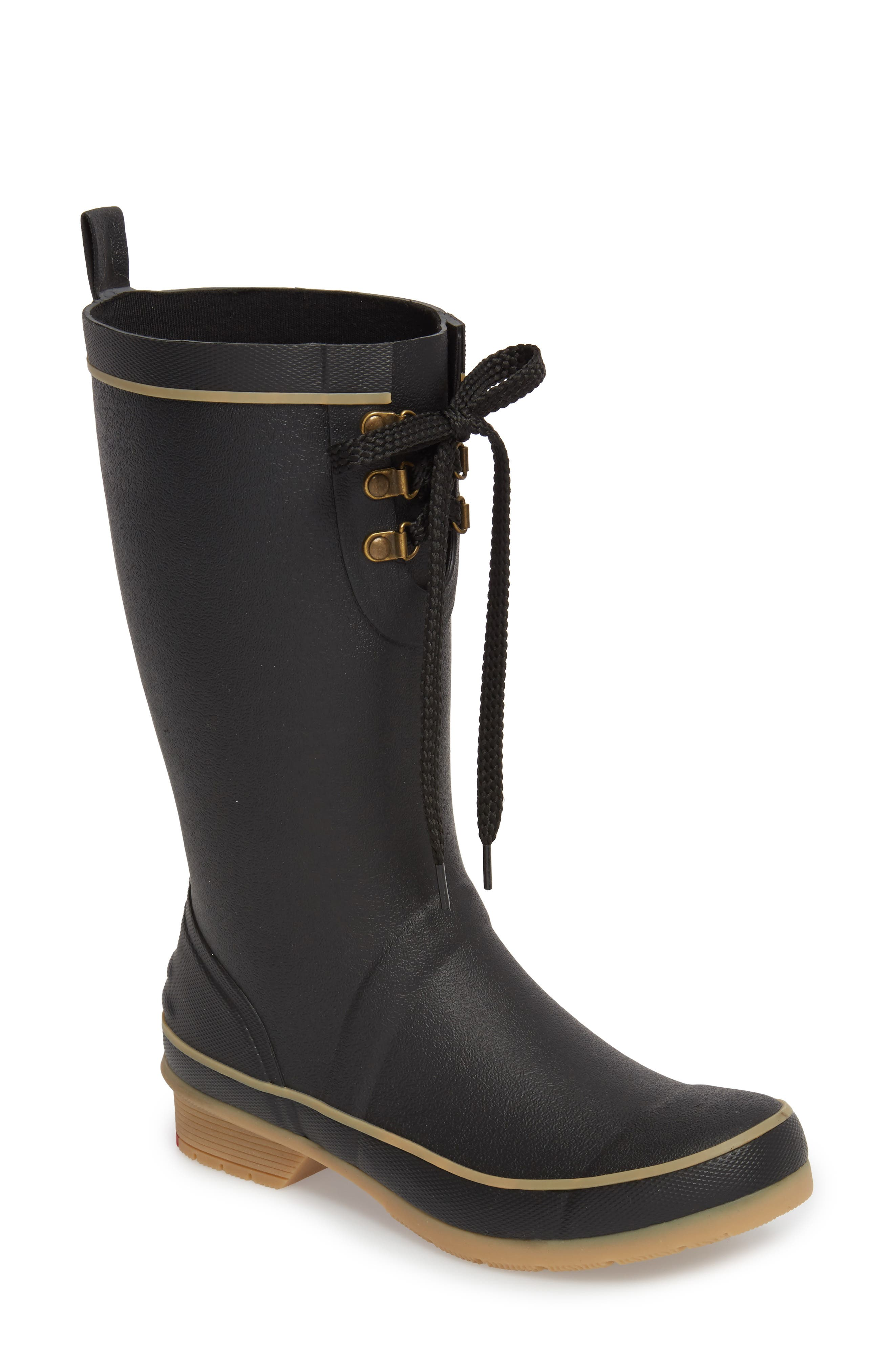 Womens Boots chooka black boot step in duck ym3h57i5