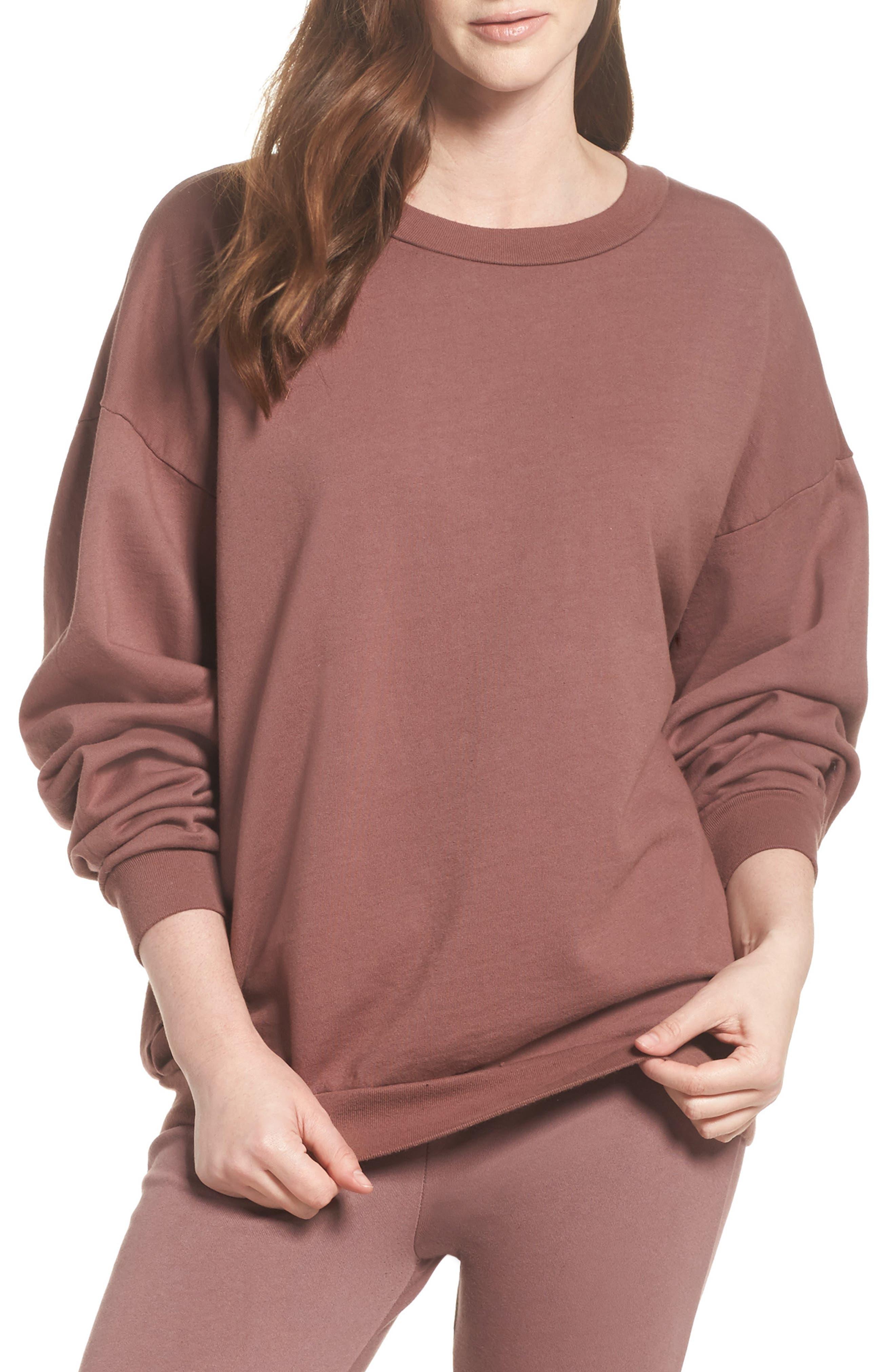 Main Image - Michael Lauren Ellstan Oversize Boyfriend Sweatshirt