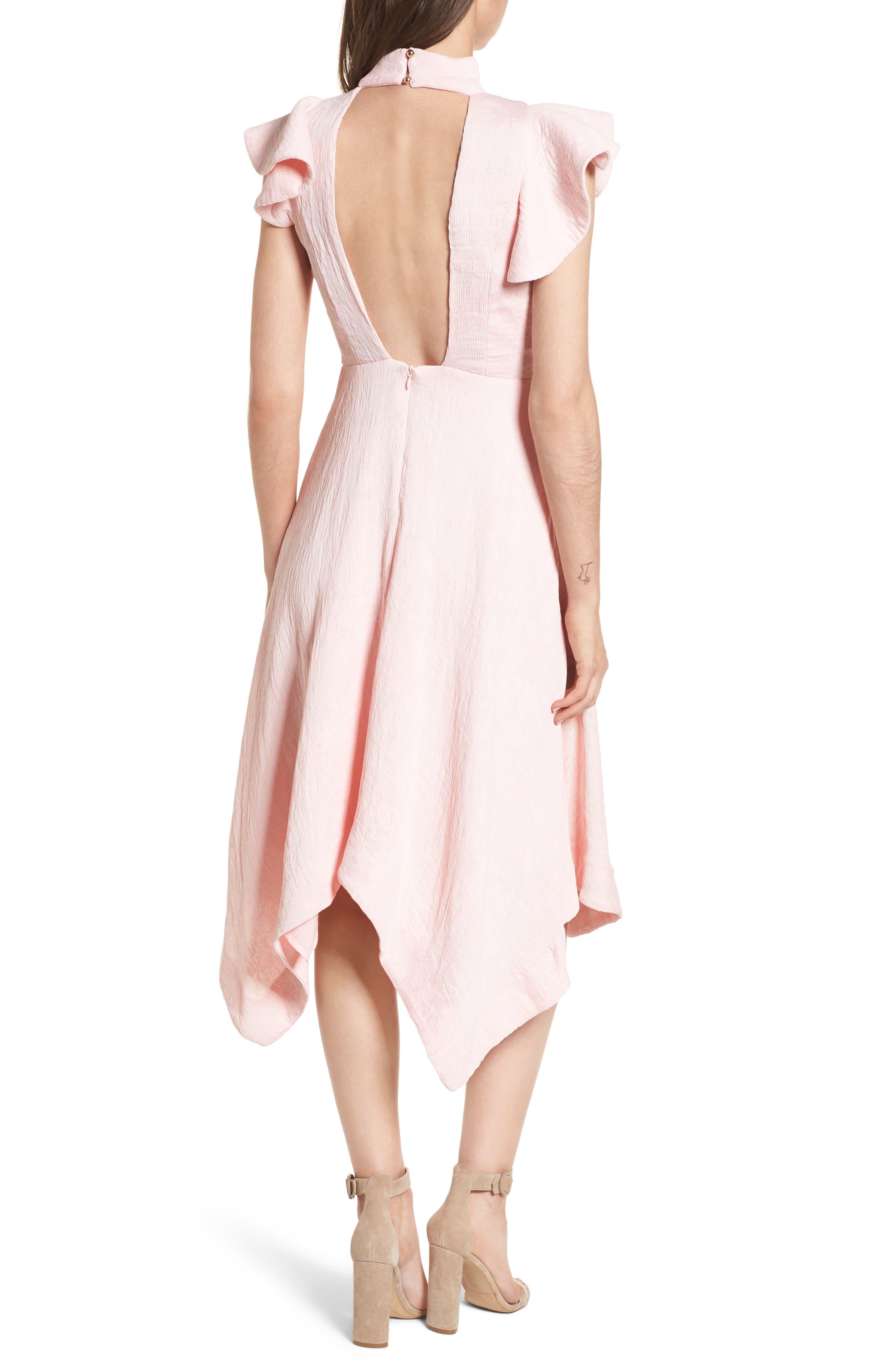 Alternate Image 2  - Elliatt Arcadia Handkerchief Hem Dress