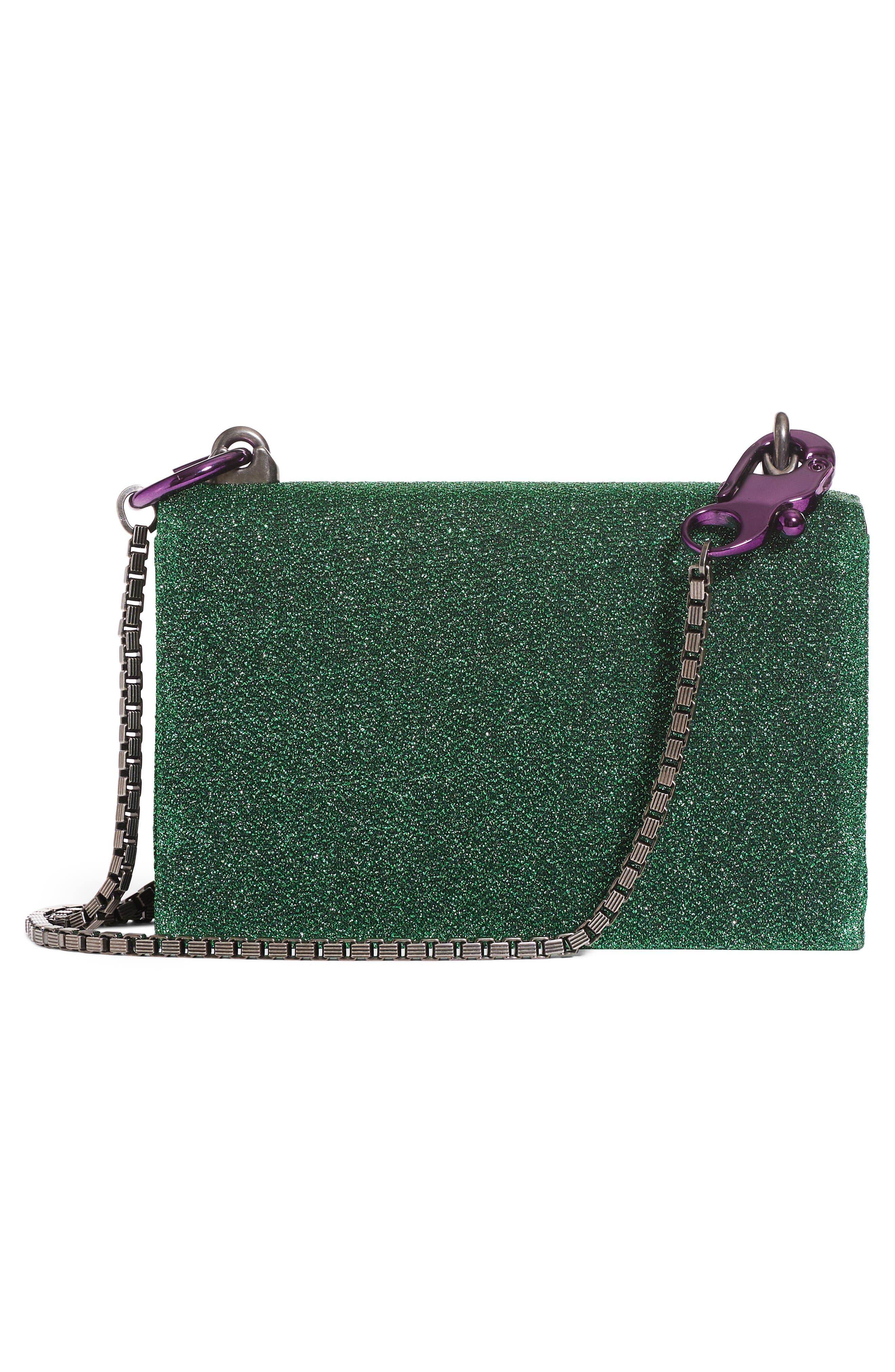DG Girls Metallic Shoulder Bag,                             Alternate thumbnail 6, color,                             Green