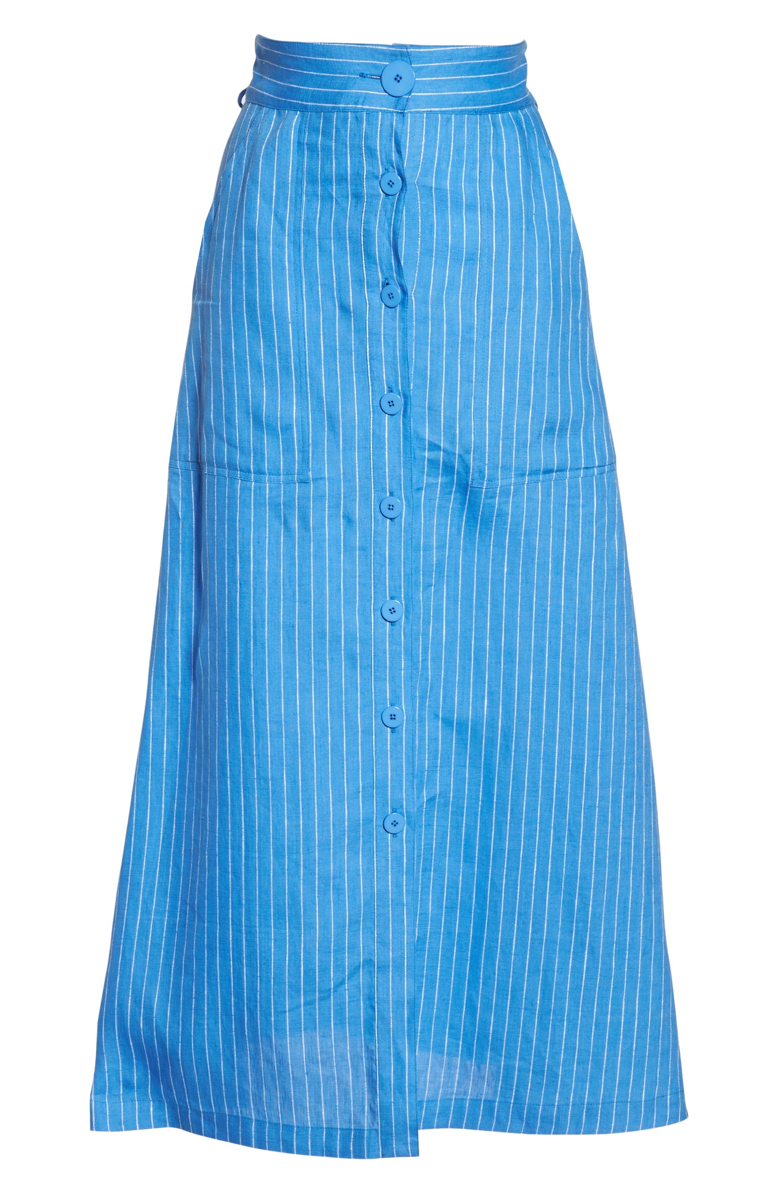 Cover-Up Skirt,                             Alternate thumbnail 6, color,                             Hydrangea/ Ivory