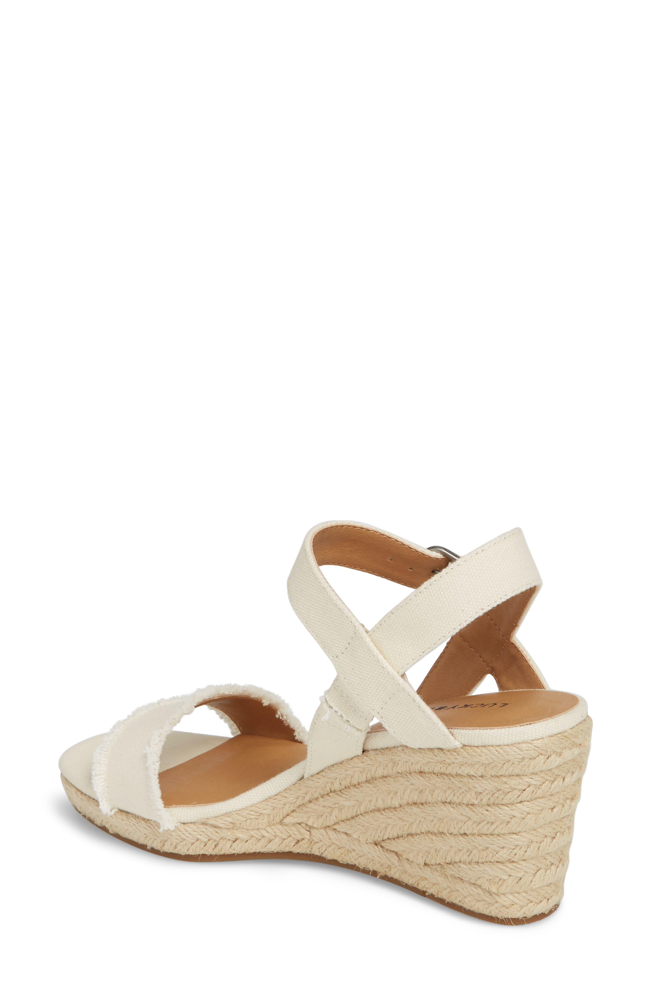 Alternate Image 2  - Lucky Brand Marceline Squared Toe Wedge Sandal (Women)