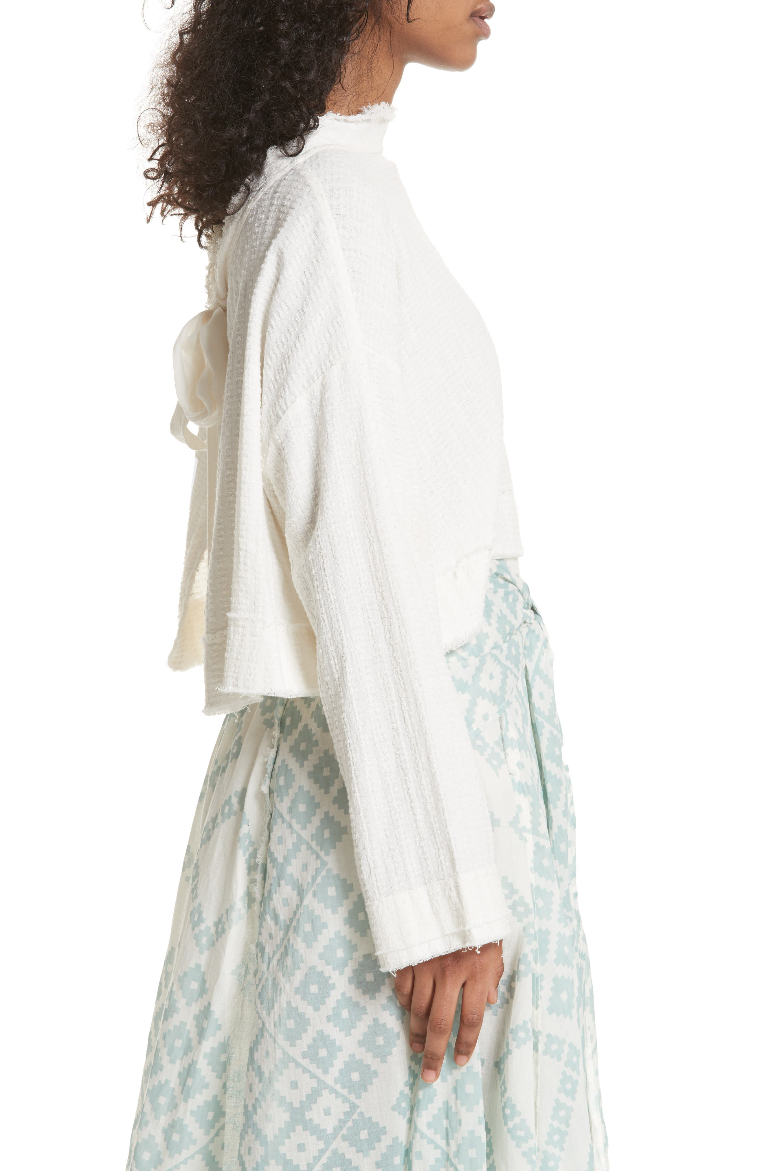 Waking in Hueco Crop Sweater,                             Alternate thumbnail 3, color,                             Ivory