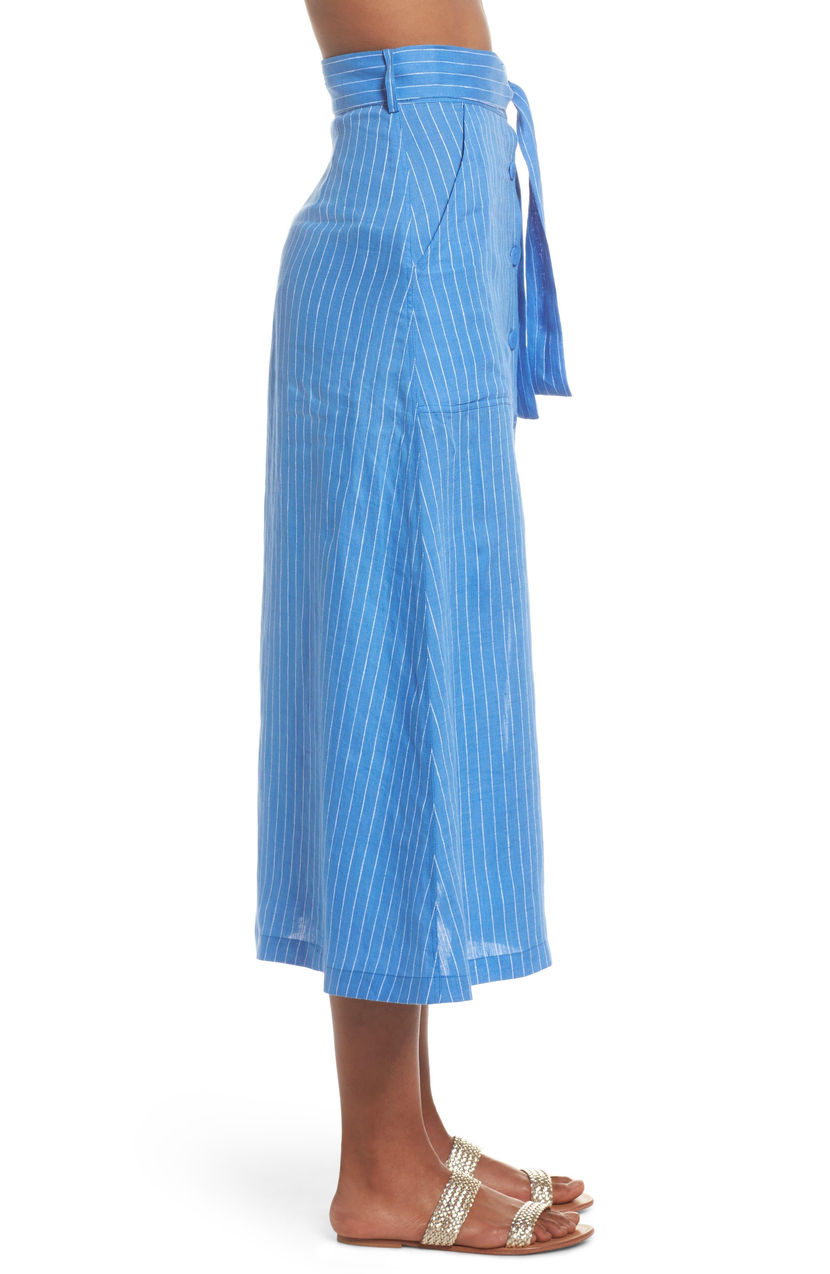 Cover-Up Skirt,                             Alternate thumbnail 3, color,                             Hydrangea/ Ivory