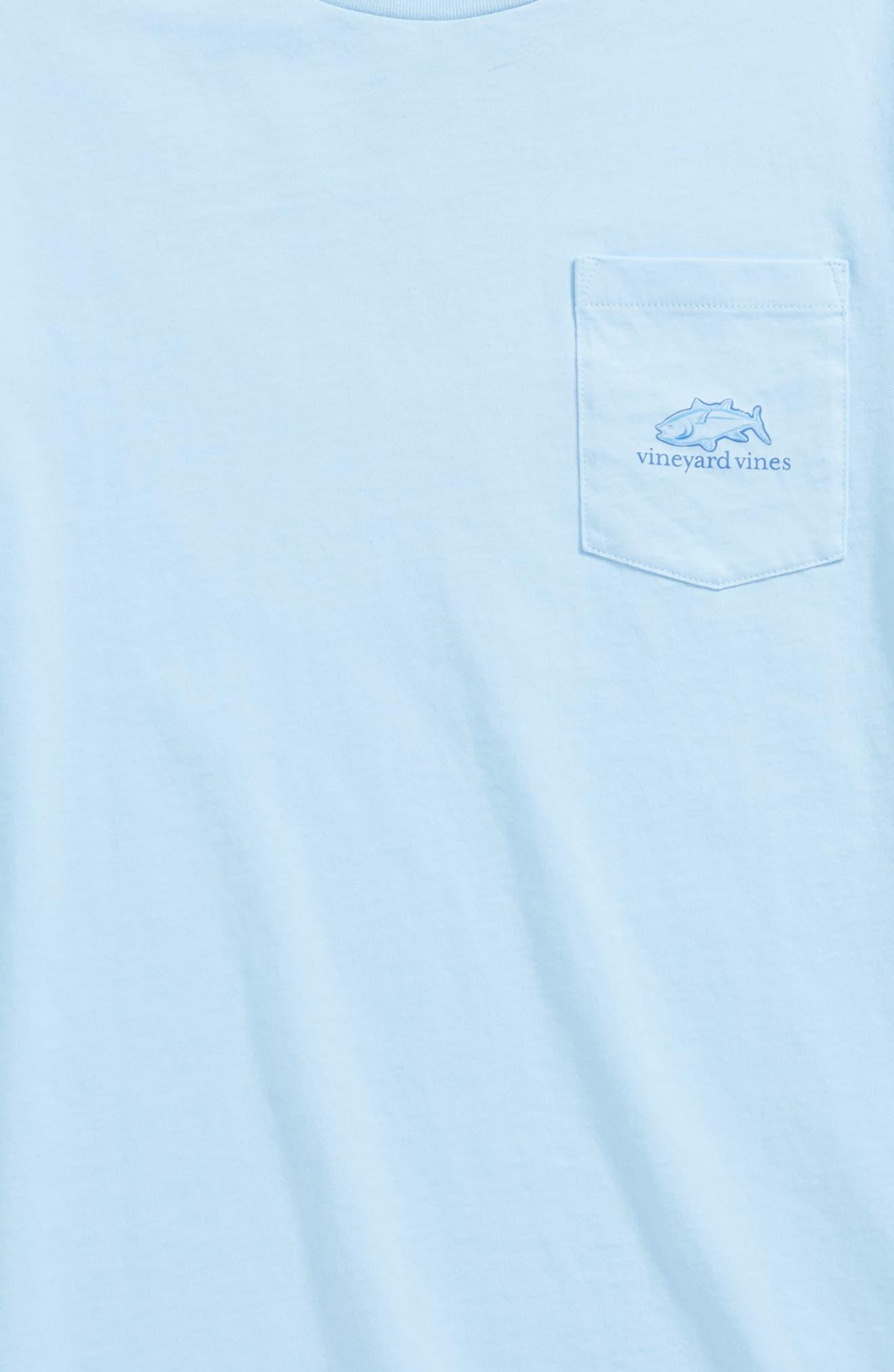 Alternate Image 3  - vineyard vines Tuna in Coral Whale Pocket T-Shirt (Big Boys)