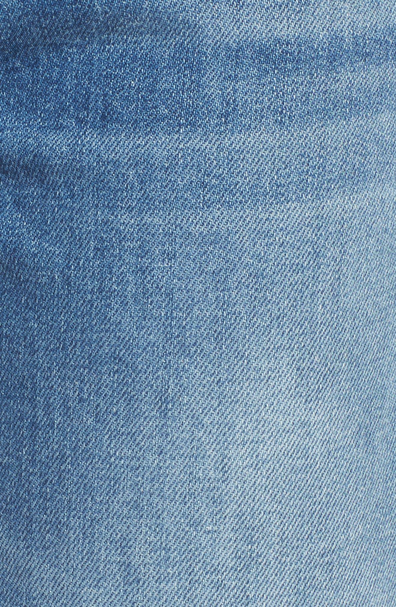 Edie Pieced Hem Cropped Jeans,                             Alternate thumbnail 6, color,                             Vintage Blue Dunes 2