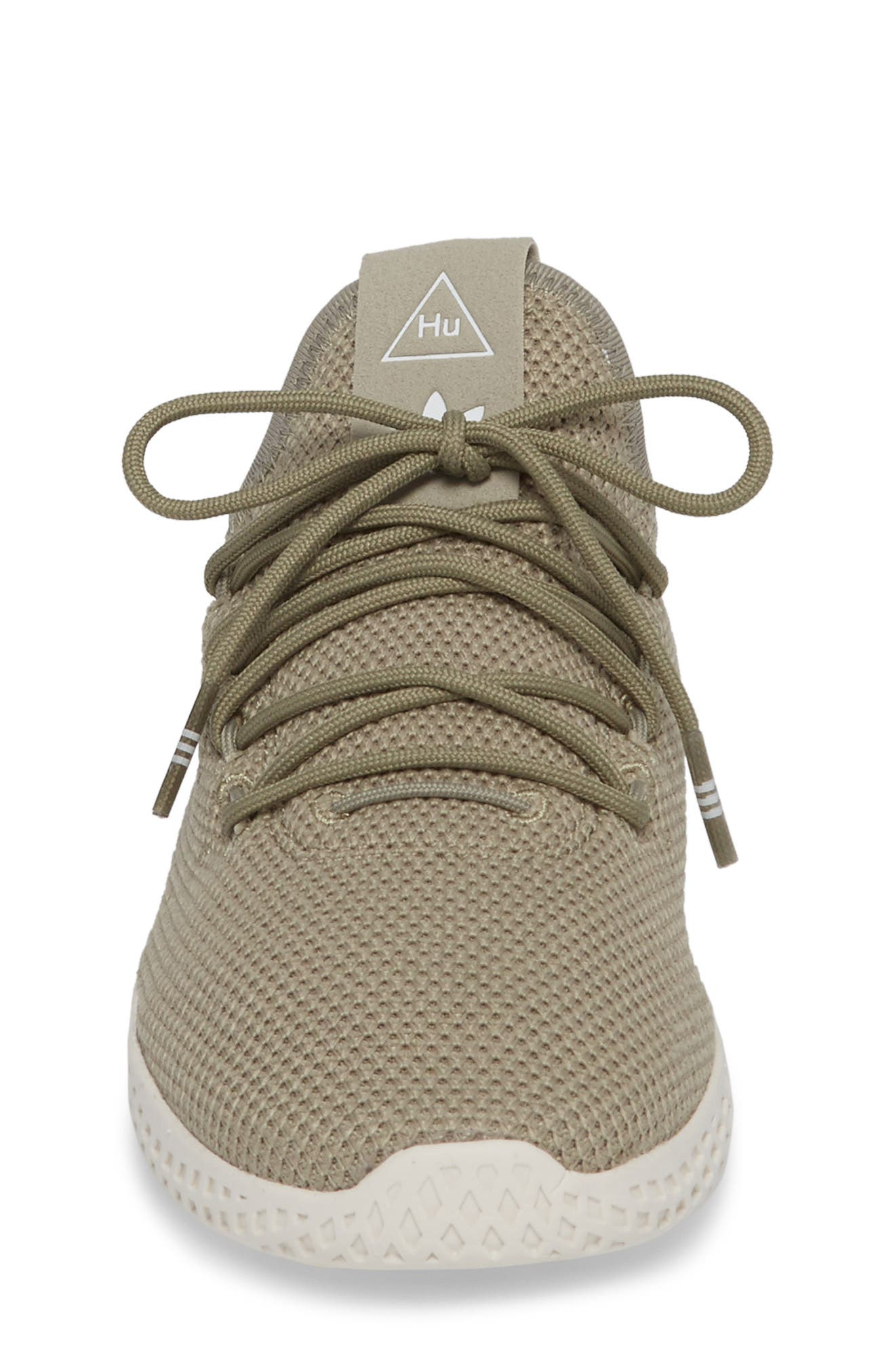 Pharrell Williams Tennis Hu Sock Sneaker,                             Alternate thumbnail 4, color,                             Tech Beige/ Chalk White