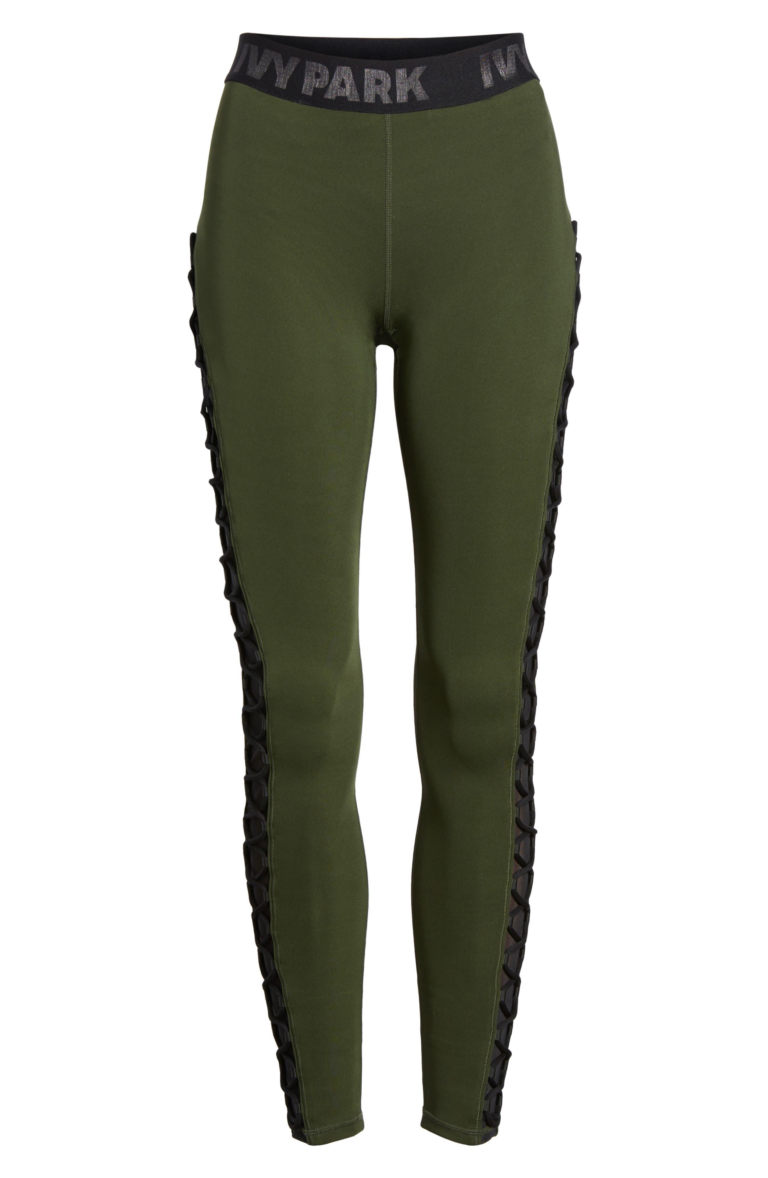 Alternate Image 7  - Ivy Park® Mesh Lace-Up Leggings