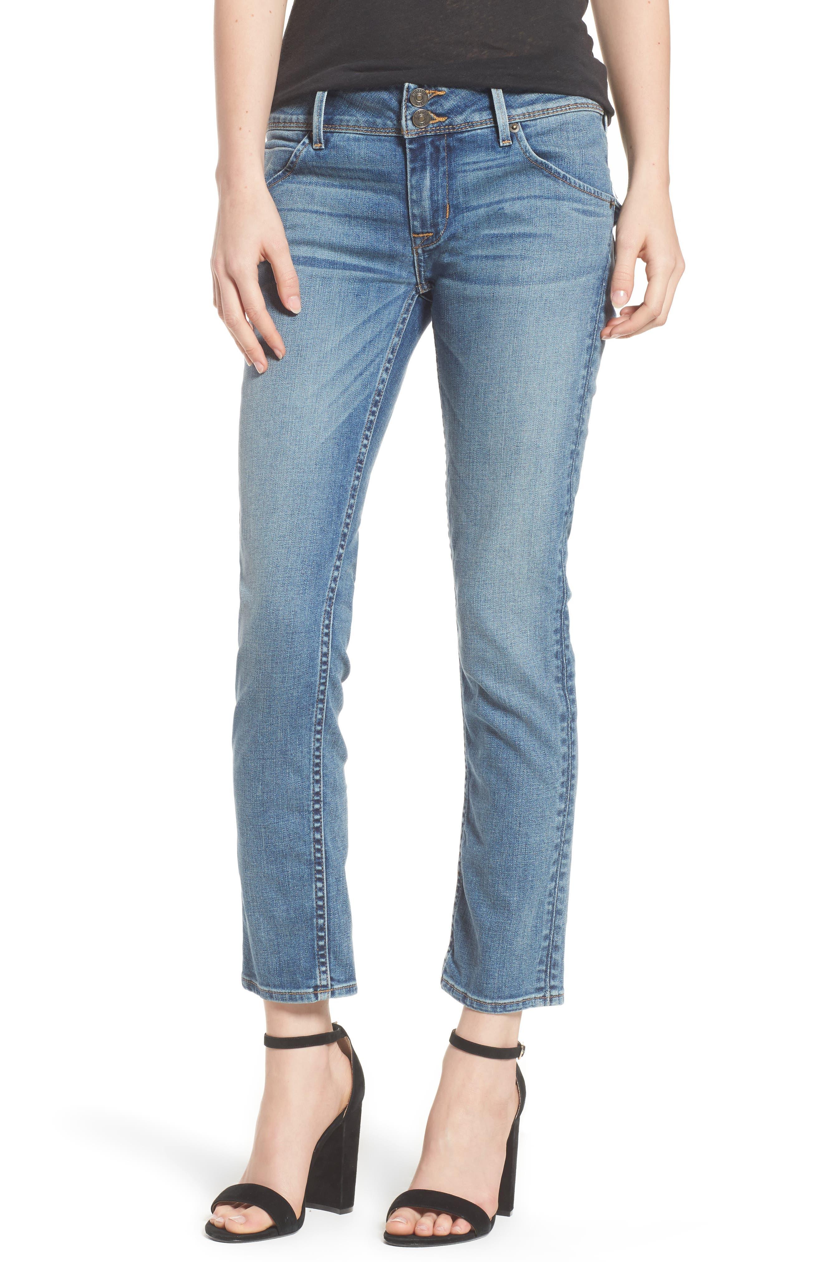 Hudson Collin Skinny Jeans,                             Main thumbnail 1, color,                             Hushed