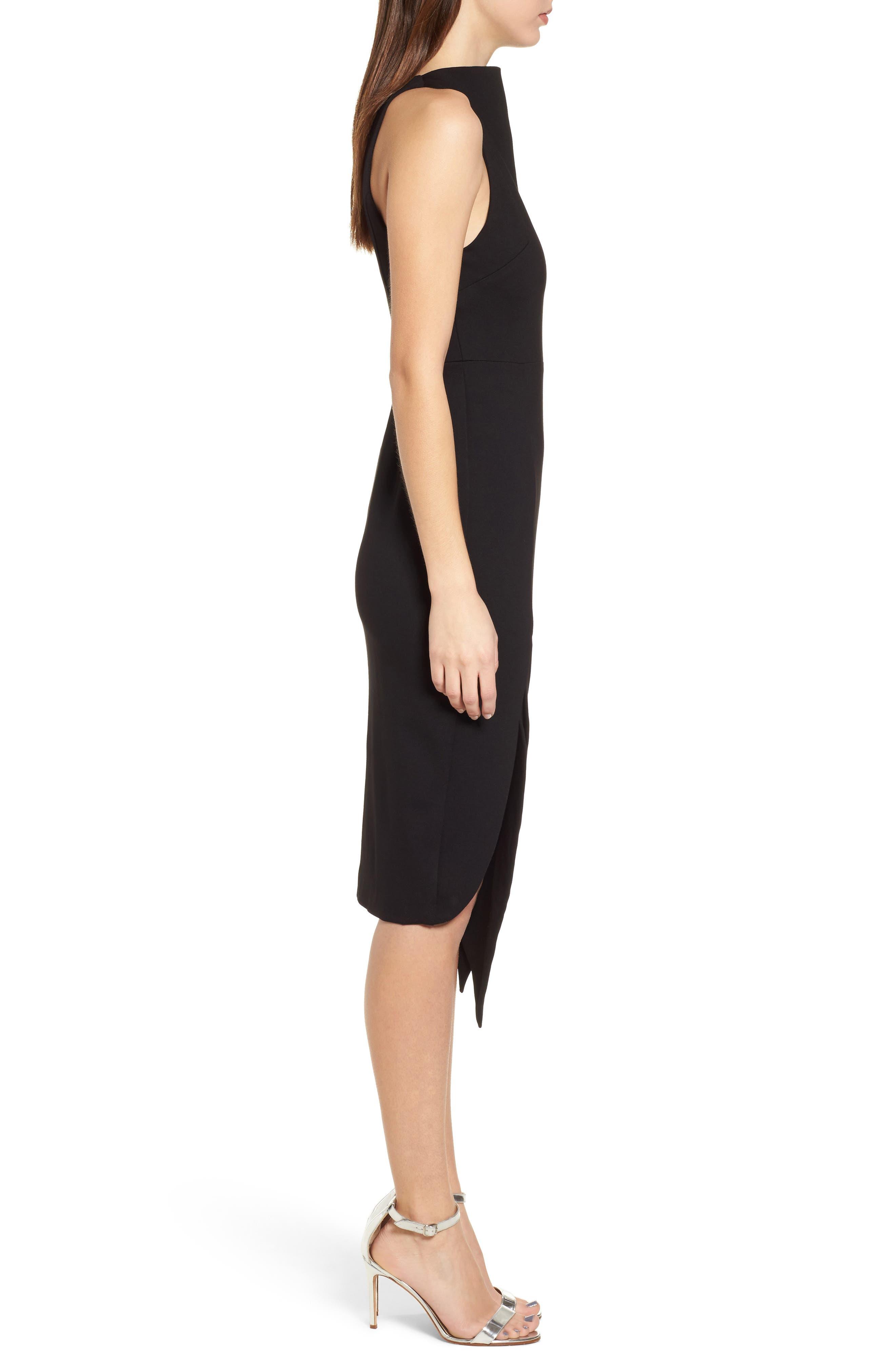 Carmen Sheath Dress,                             Alternate thumbnail 3, color,                             Black