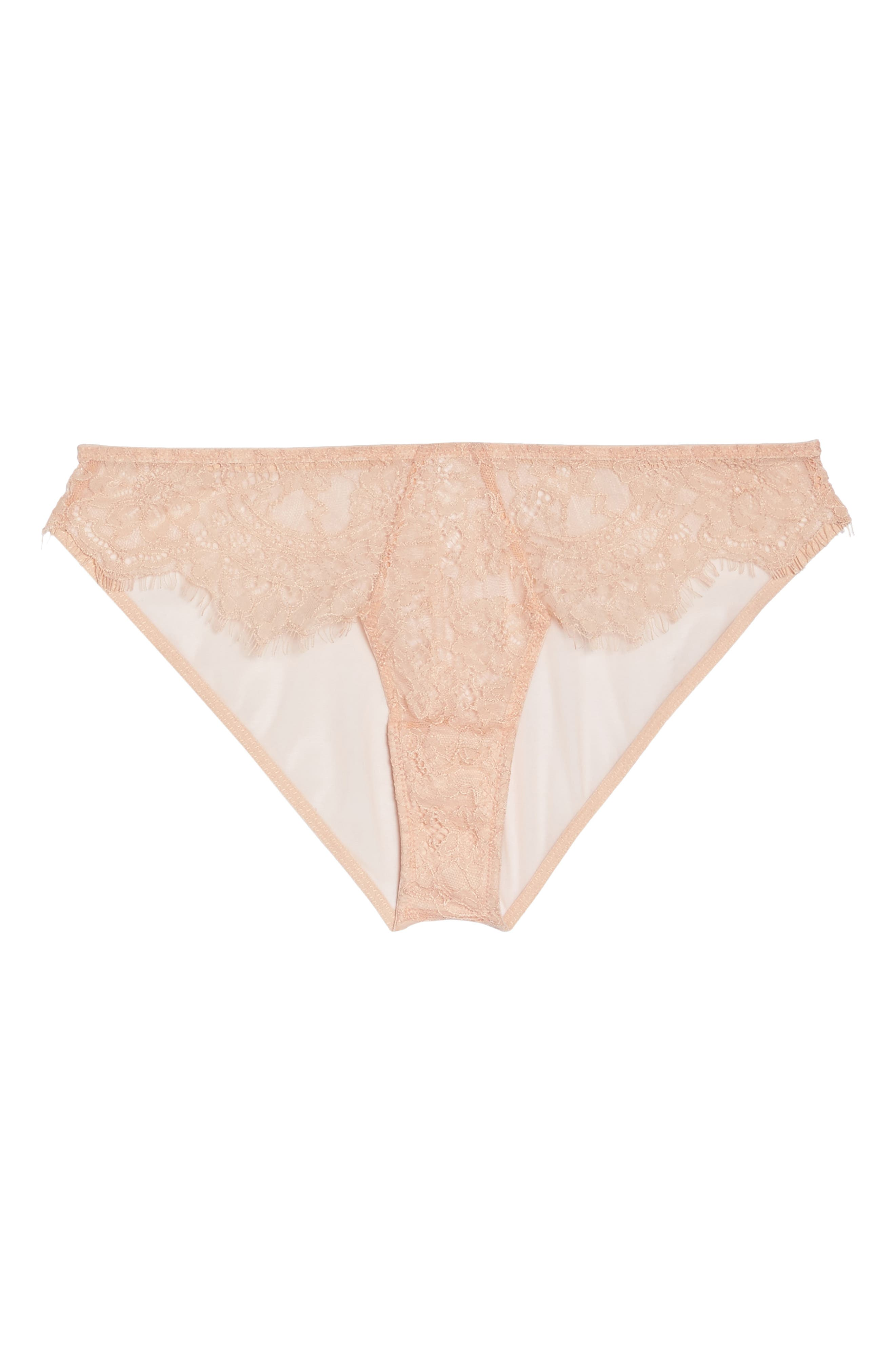 Thistle & Spire Graham Lace Bikini,                             Alternate thumbnail 4, color,                             Blush
