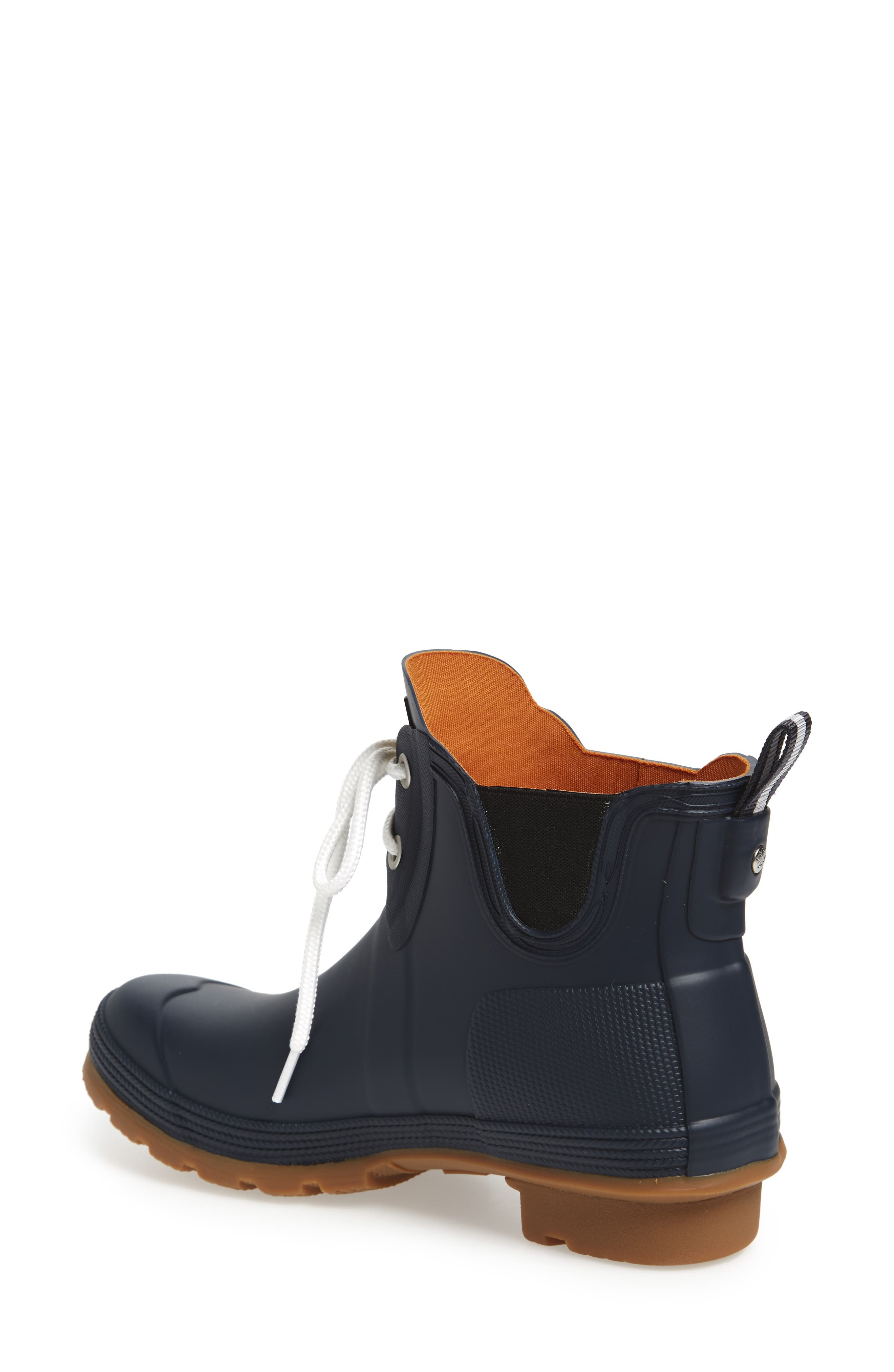 Original Sissinghurst Waterproof Pull-On Boot,                             Alternate thumbnail 2, color,                             Navy/ Gum