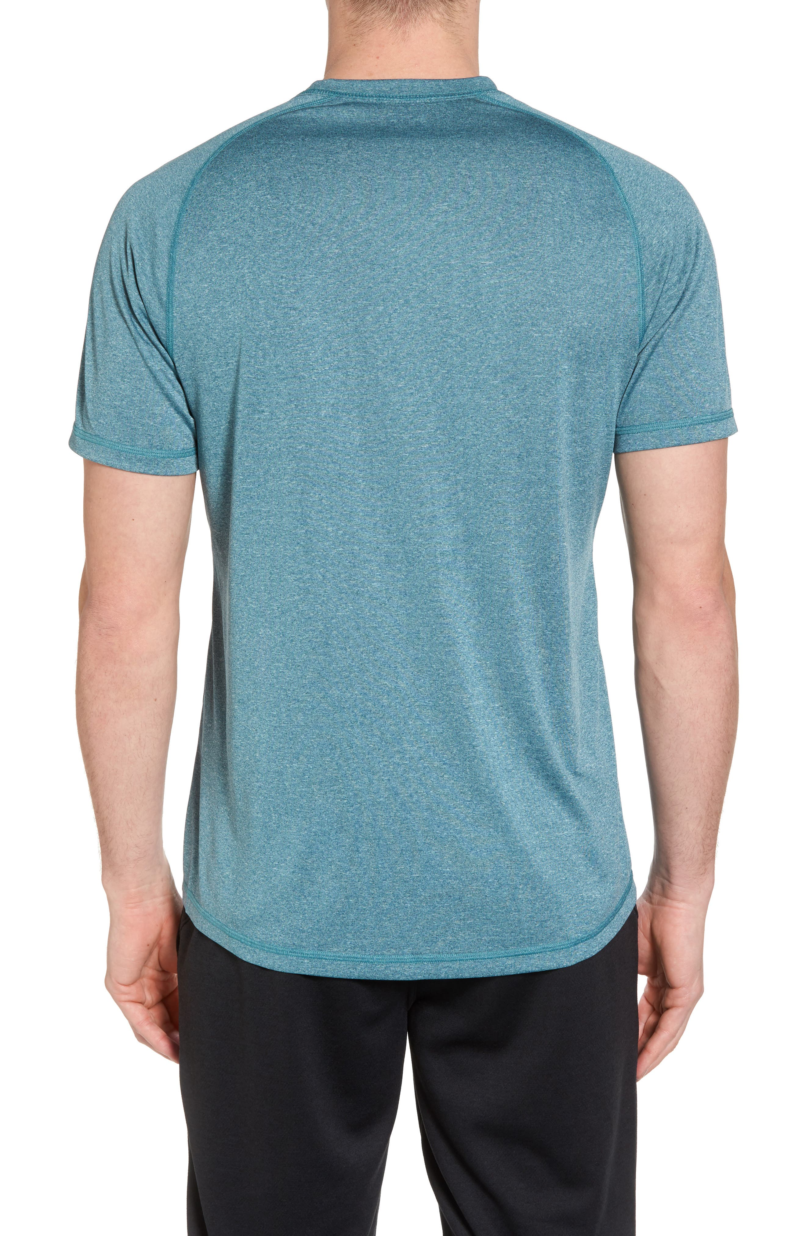 Jordanite Crewneck T-Shirt,                             Alternate thumbnail 2, color,                             Teal Tourmaline Melange