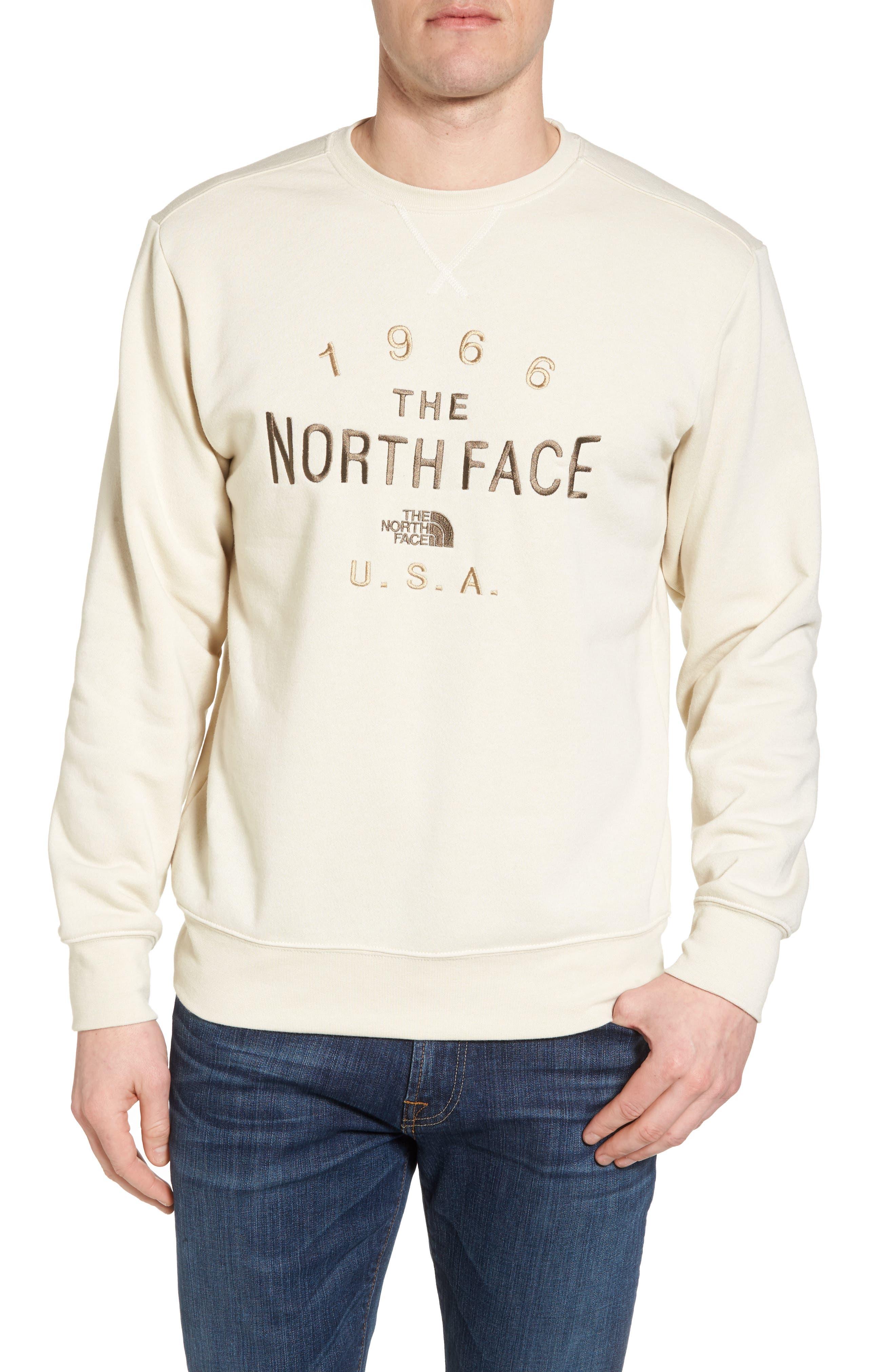 66 Classic Crew Sweatshirt,                         Main,                         color, Vintage White Heather