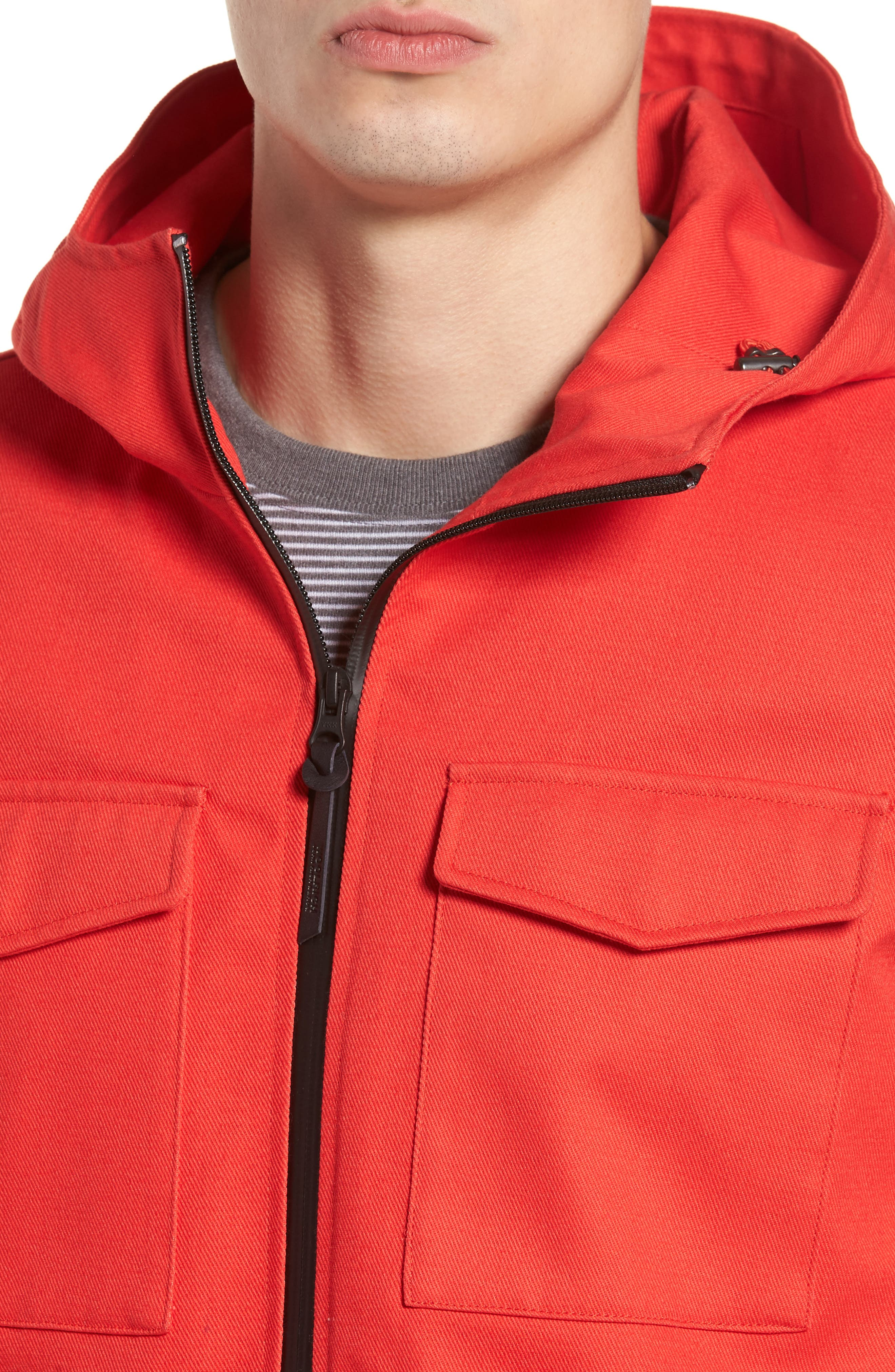& Bros. Crew Field Jacket,                             Alternate thumbnail 4, color,                             Aurora Red