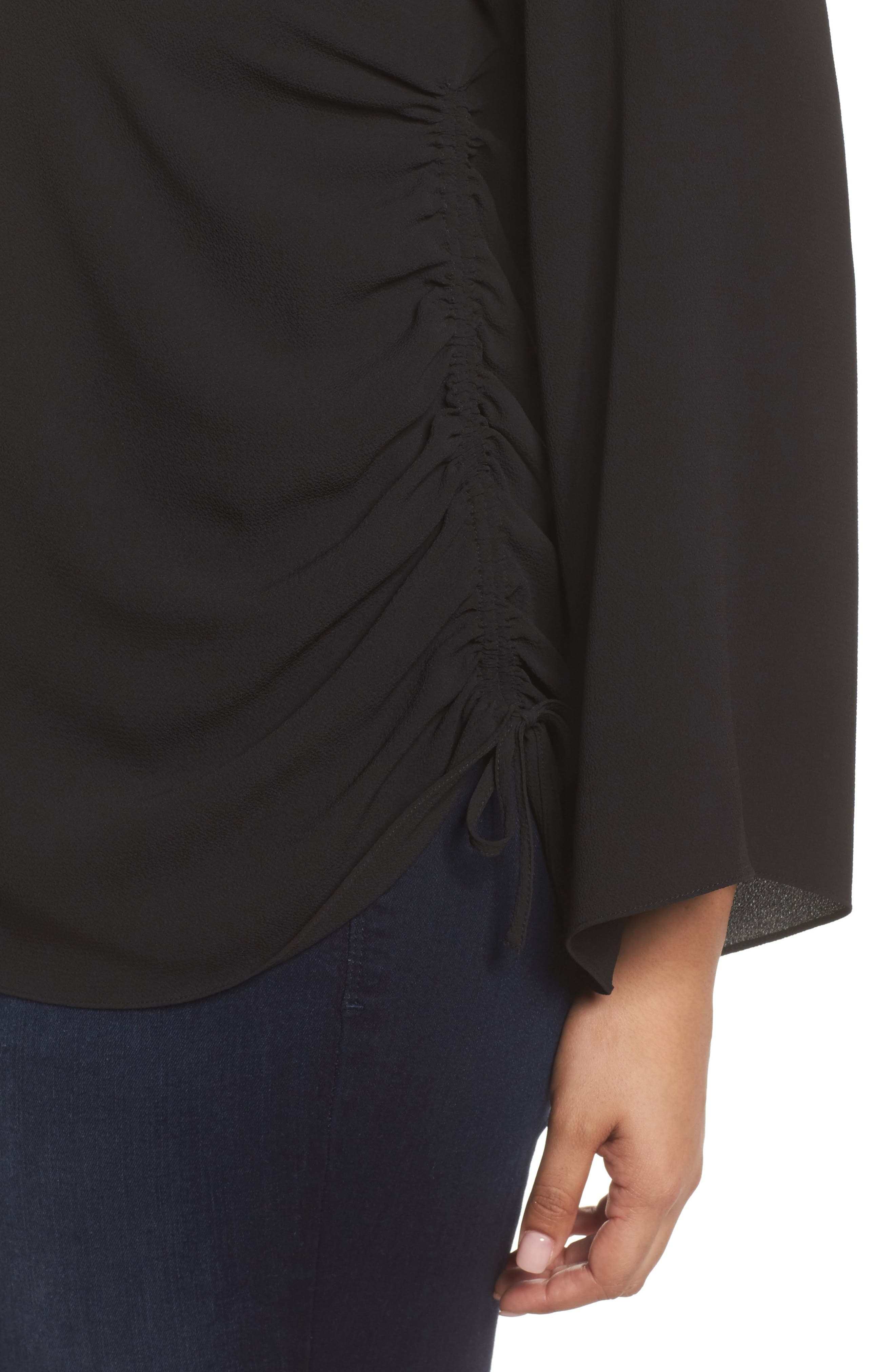 Alternate Image 4  - Vince Camuto Drawstring Side Blouse (Plus Size)