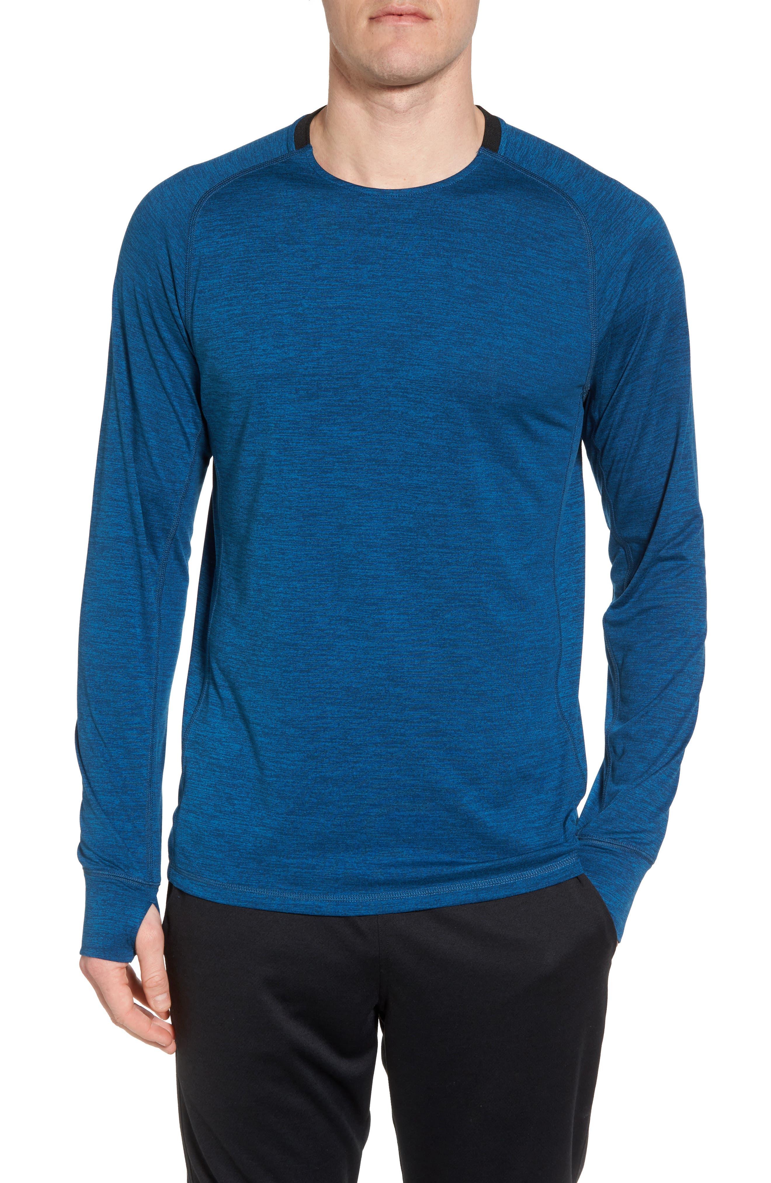 Larosite Athletic Fit T-Shirt,                             Main thumbnail 1, color,                             Blue Iolite Melange